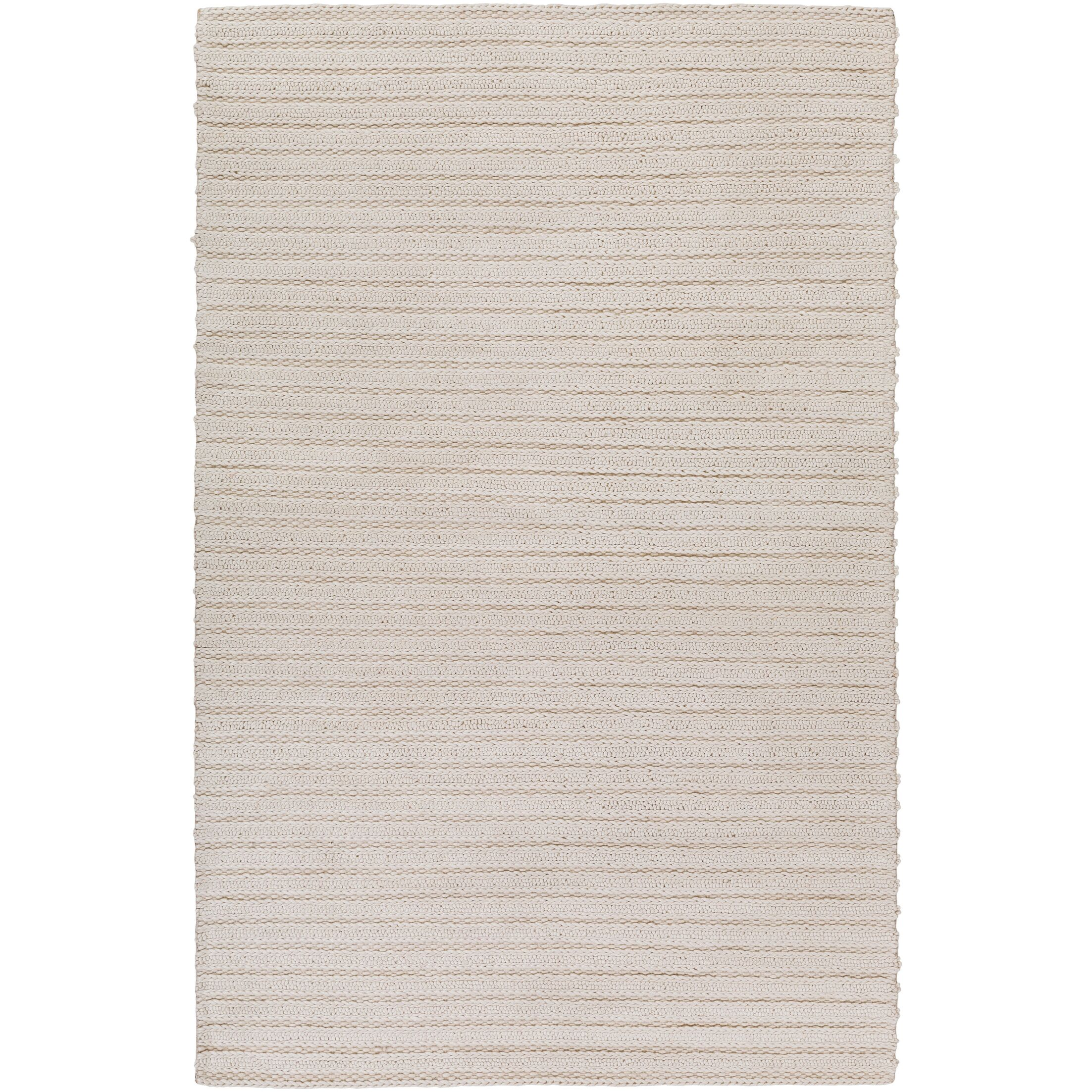 Vallejo Hand-Woven White Area Rug Rug Size: Rectangle 8' x 10'