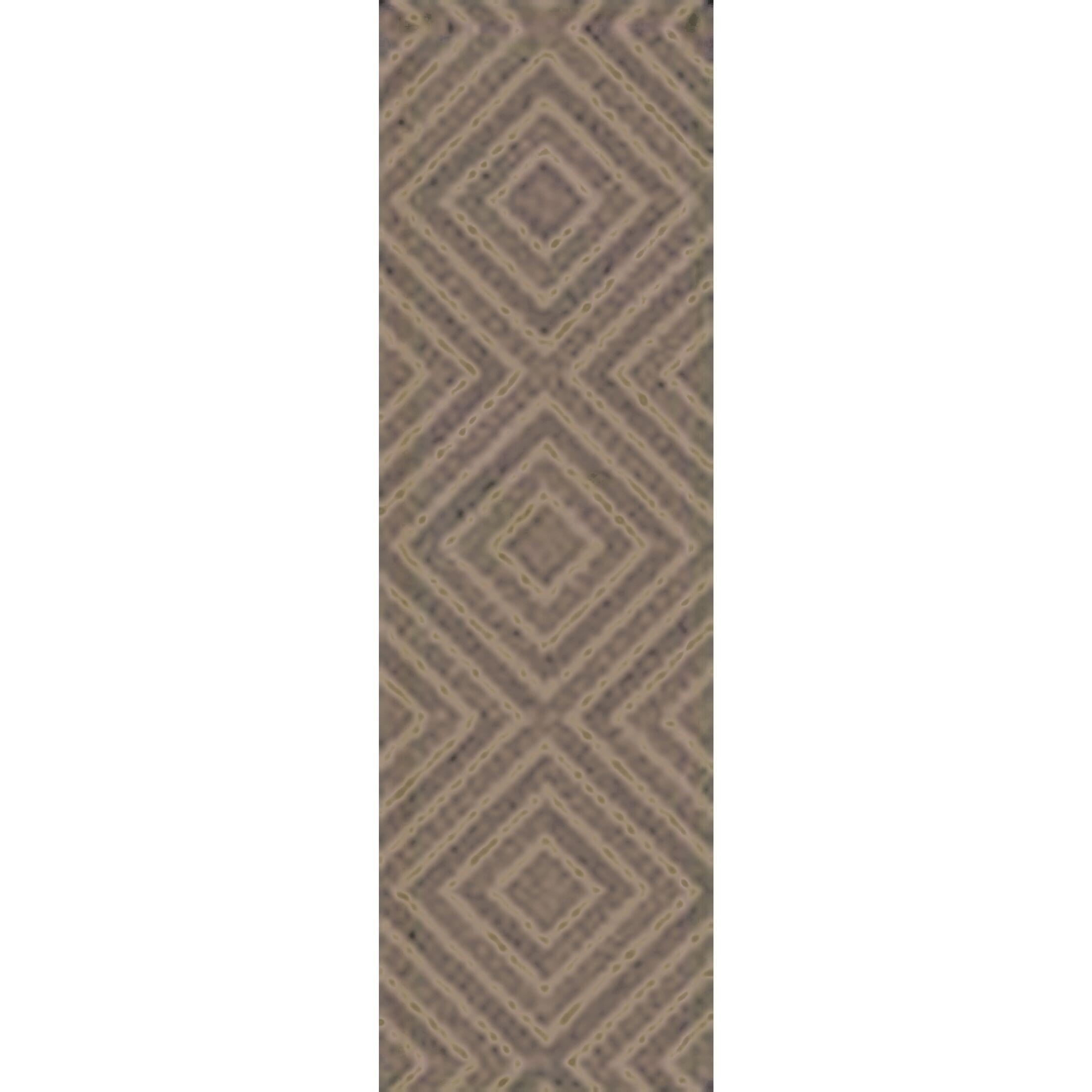 Berkeley Hand-Hooked Taupe/Black Area Rug Rug Size: Runner 2'6