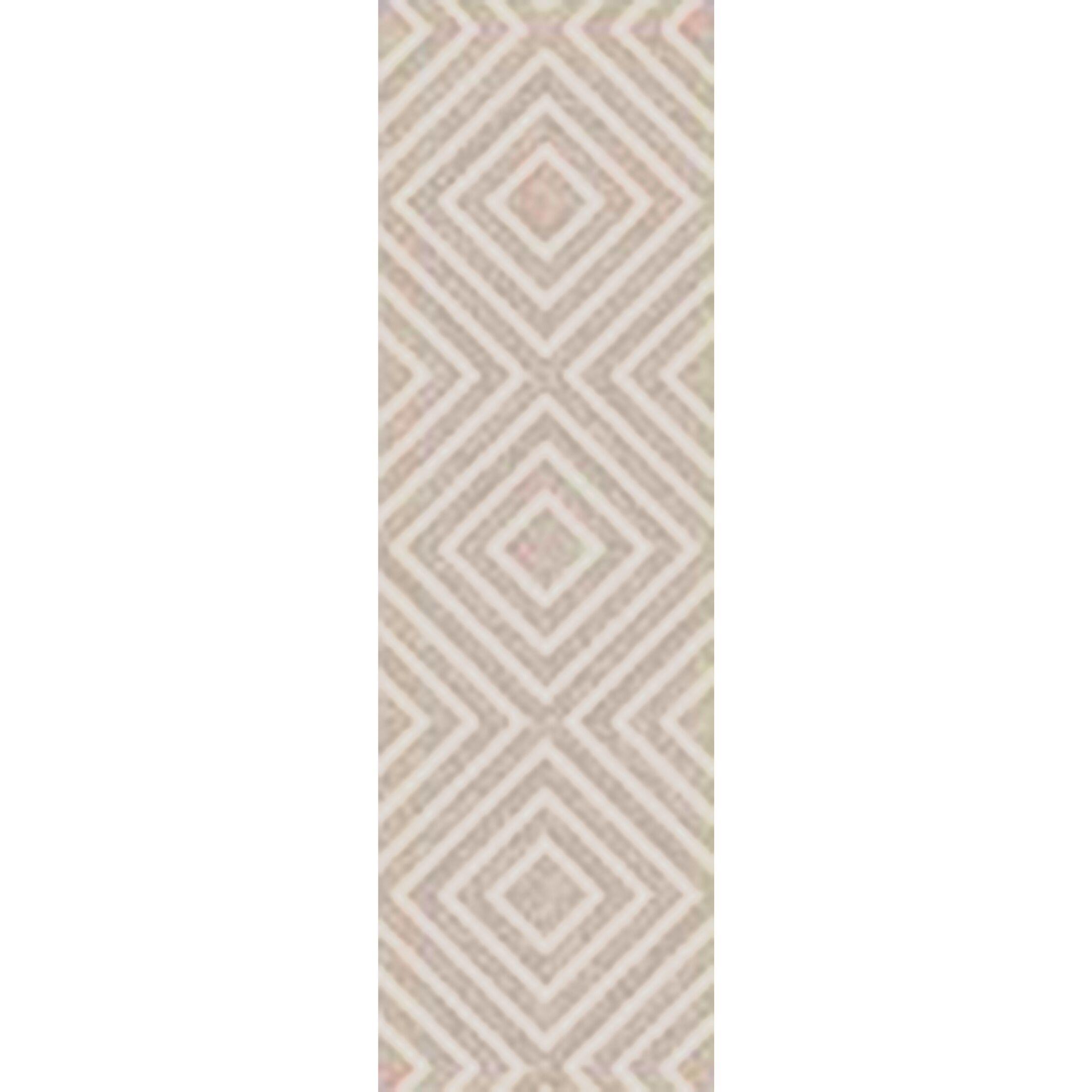 Berkeley Hand-Hooked Khaki/Ivory Area Rug Rug Size: Rectangle 9' x 13'