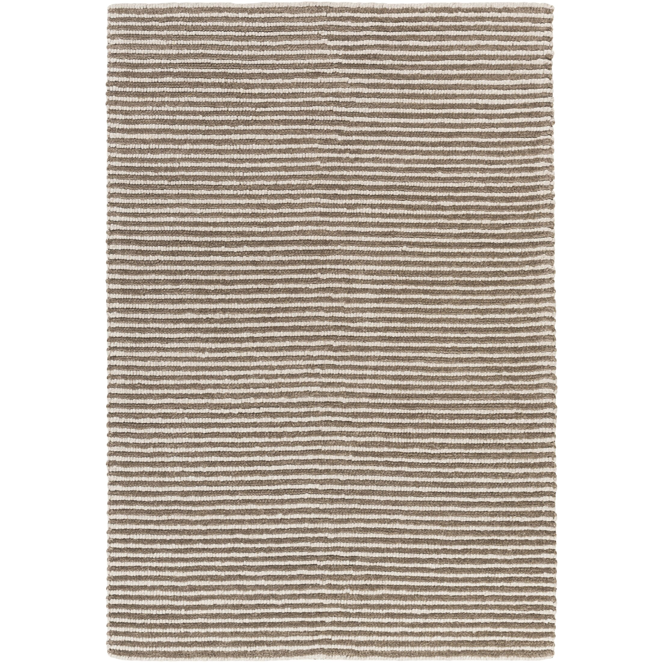 Acton Hand-Woven Camel/White Area Rug Rug Size: Rectangle 5' x 7'6