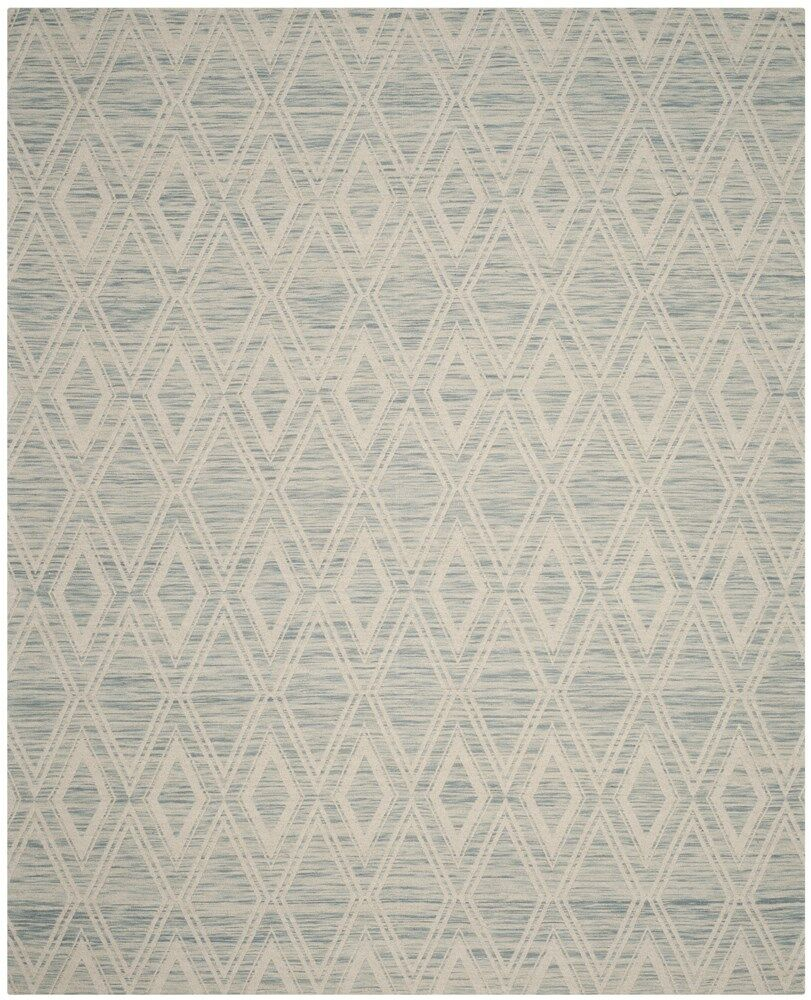 Alexandria Hand-Woven Light Blue/Ivory Area Rug Rug Size: Rectangle 5' x 8'