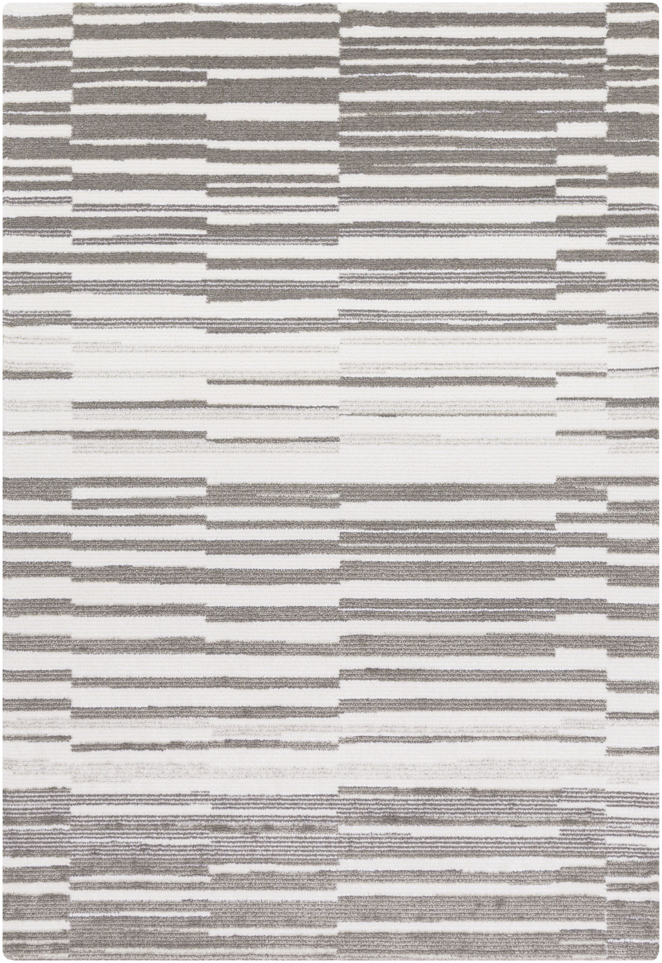 Sky Ivory/Grey Area Rug Rug Size: Rectangle 8' x 10'