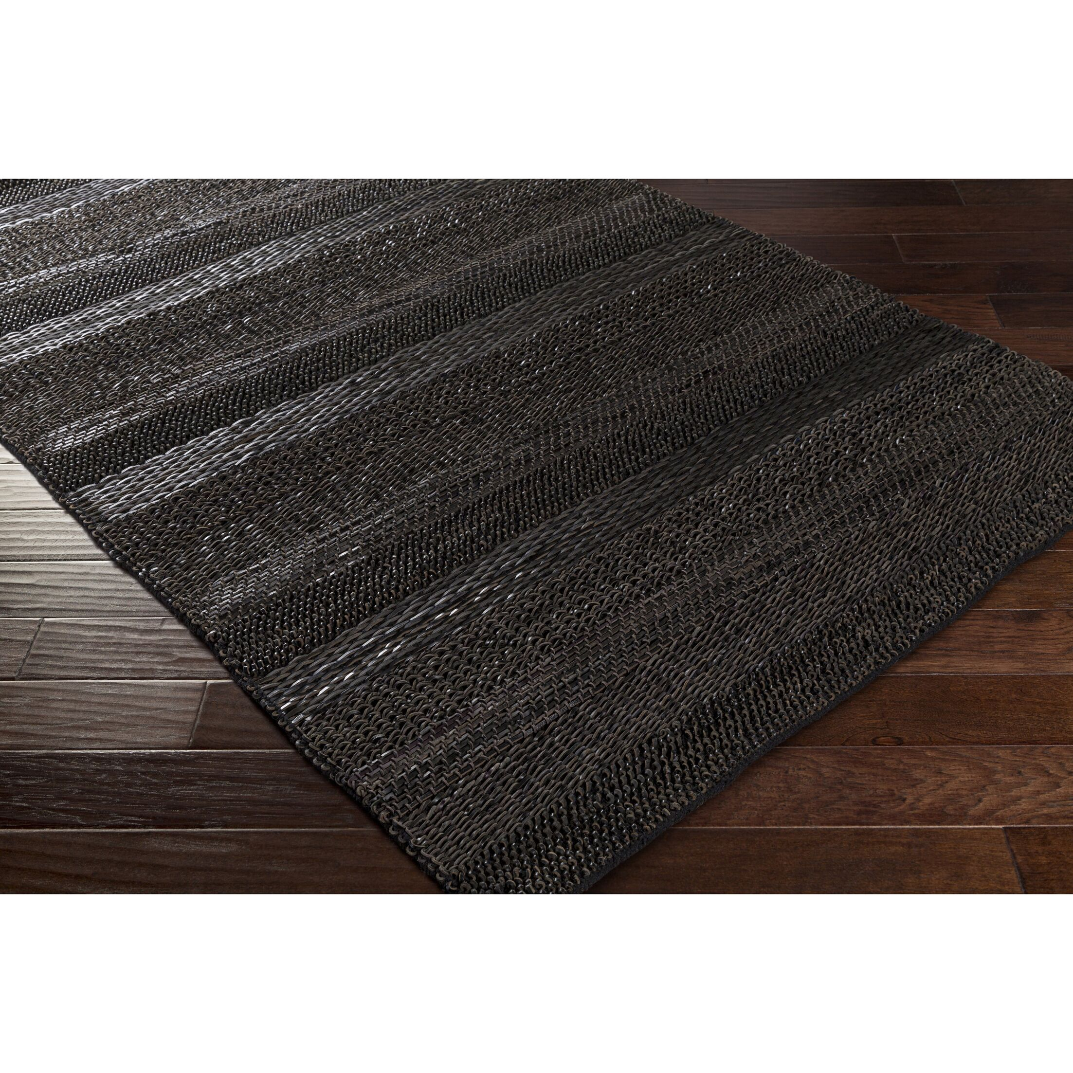 Bennett Hand-Woven Black Area Rug Rug Size: Rectangle 5' x 7'6