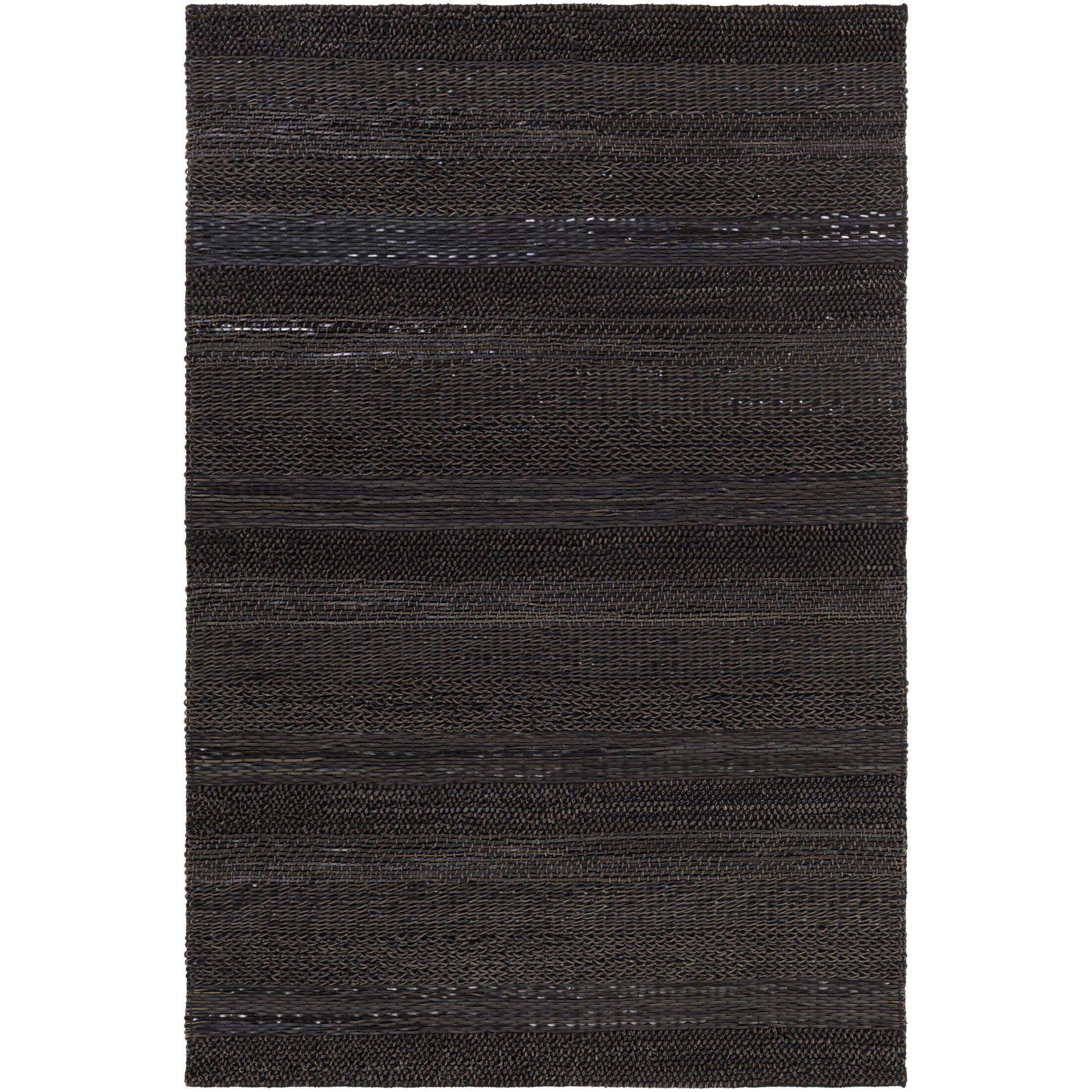 Bennett Hand-Woven Brown/Black Area Rug Rug Size: Rectangle 8' x 10'