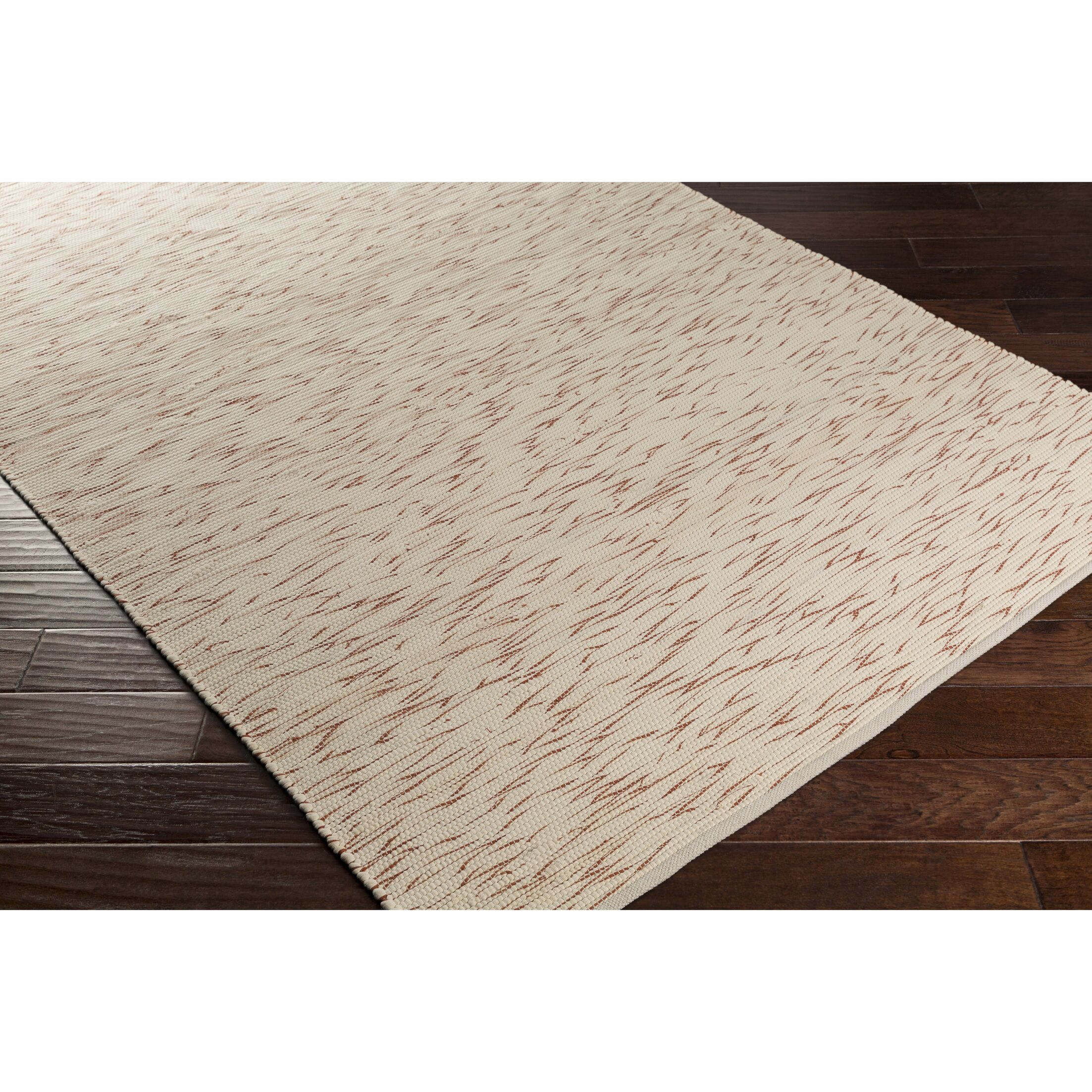 Forestport Hand-Woven Orange/Neutral Area Rug Rug Size: Rectangle 5' x 7'6