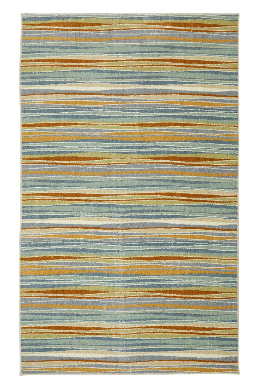 Centerville Machine Woven Blue/Cream Area Rug Rug Size: Rectangle 5' x 8'