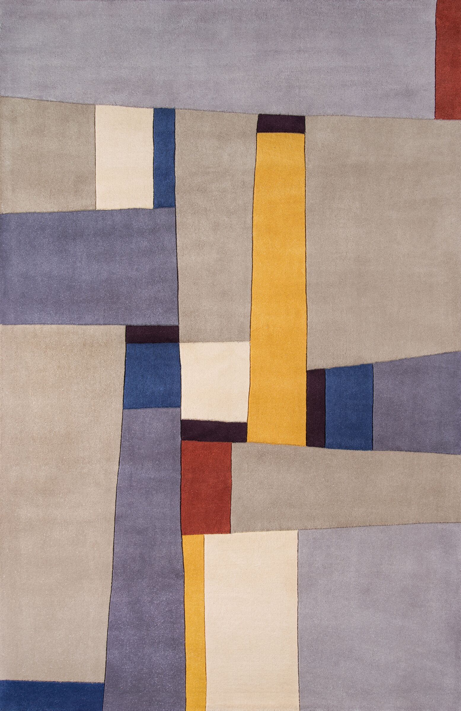 Sunny Springs Hand-Tufted Gray Area Rug Rug Size: Rectangle 5'3