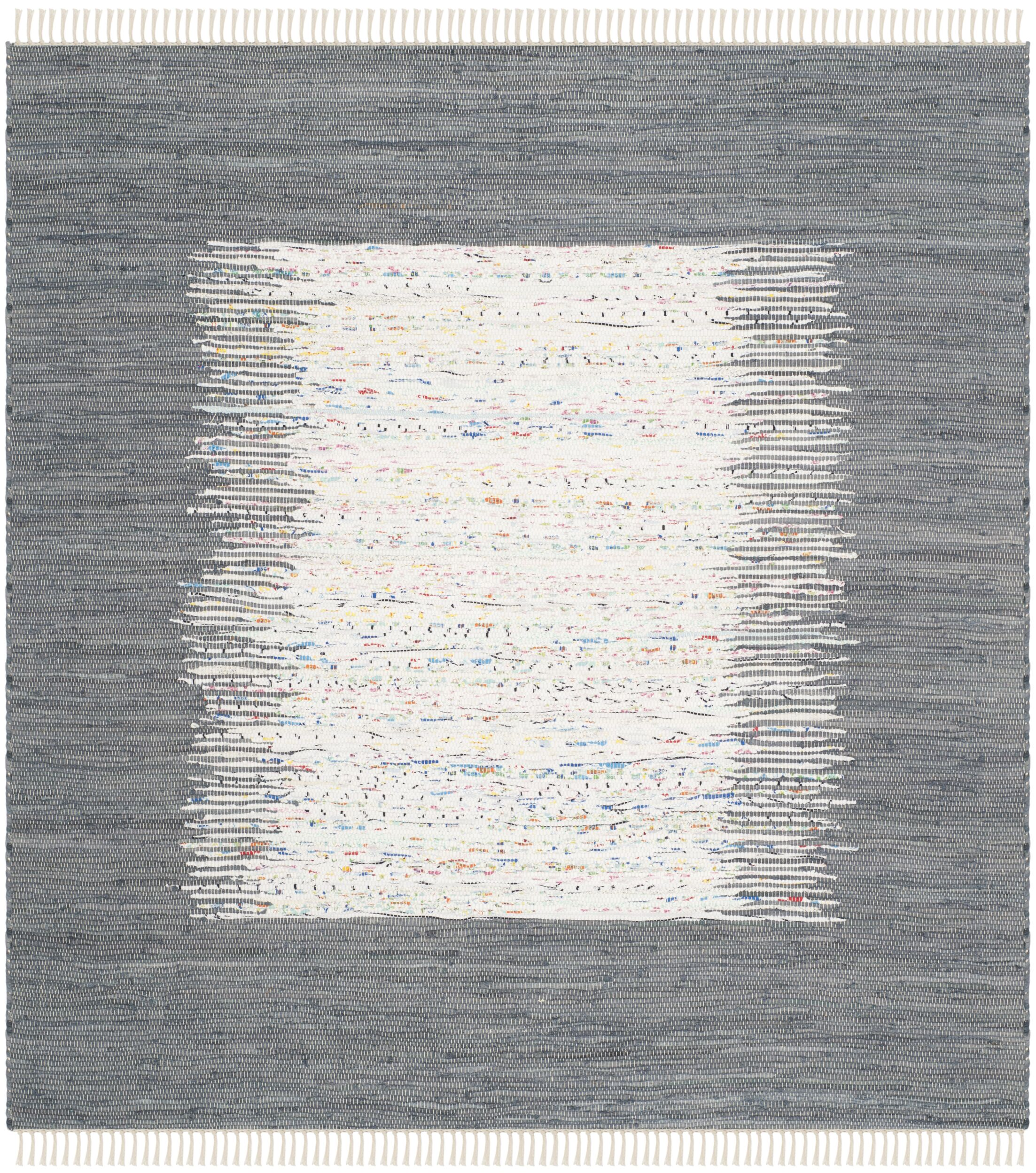 Jameson Contemporary Hand-Woven Ivory/Gray Area Rug Rug Size: Square 6'