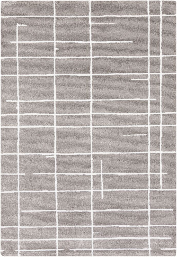 Sky Gray/White Area Rug Rug Size: Rectangle 9' x 12'