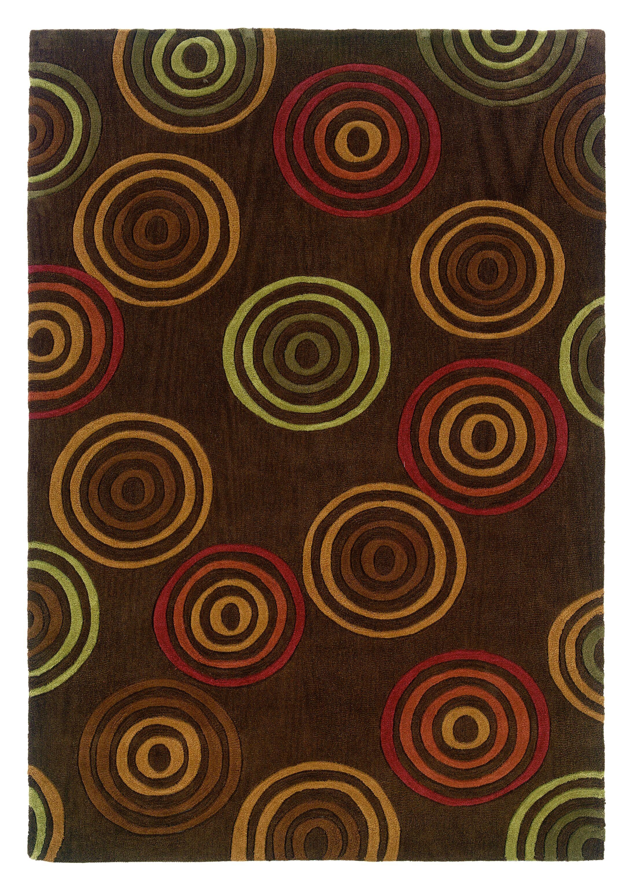 Bumpus Hand-Tufted Chocolate Area Rug Rug Size: 8' x 10'