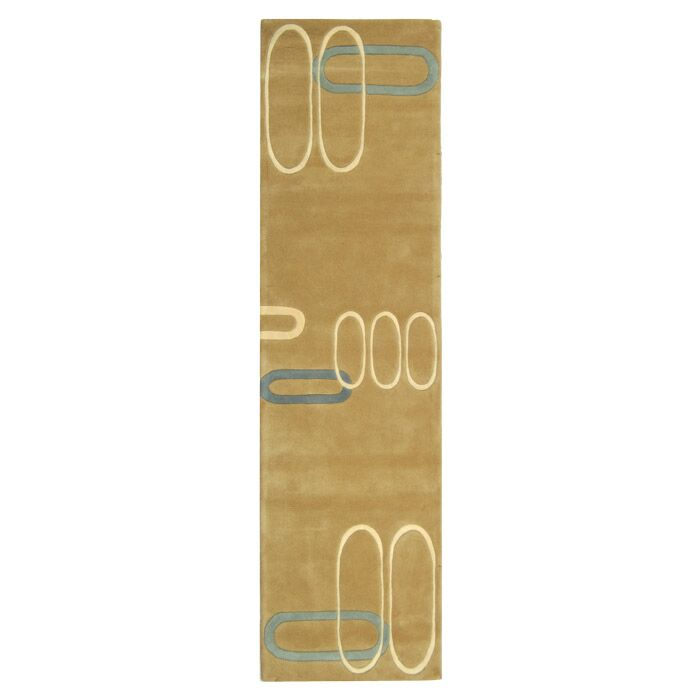 Peralta Hand-Tufted Beige Area Rug Rug Size: Runner 2'6
