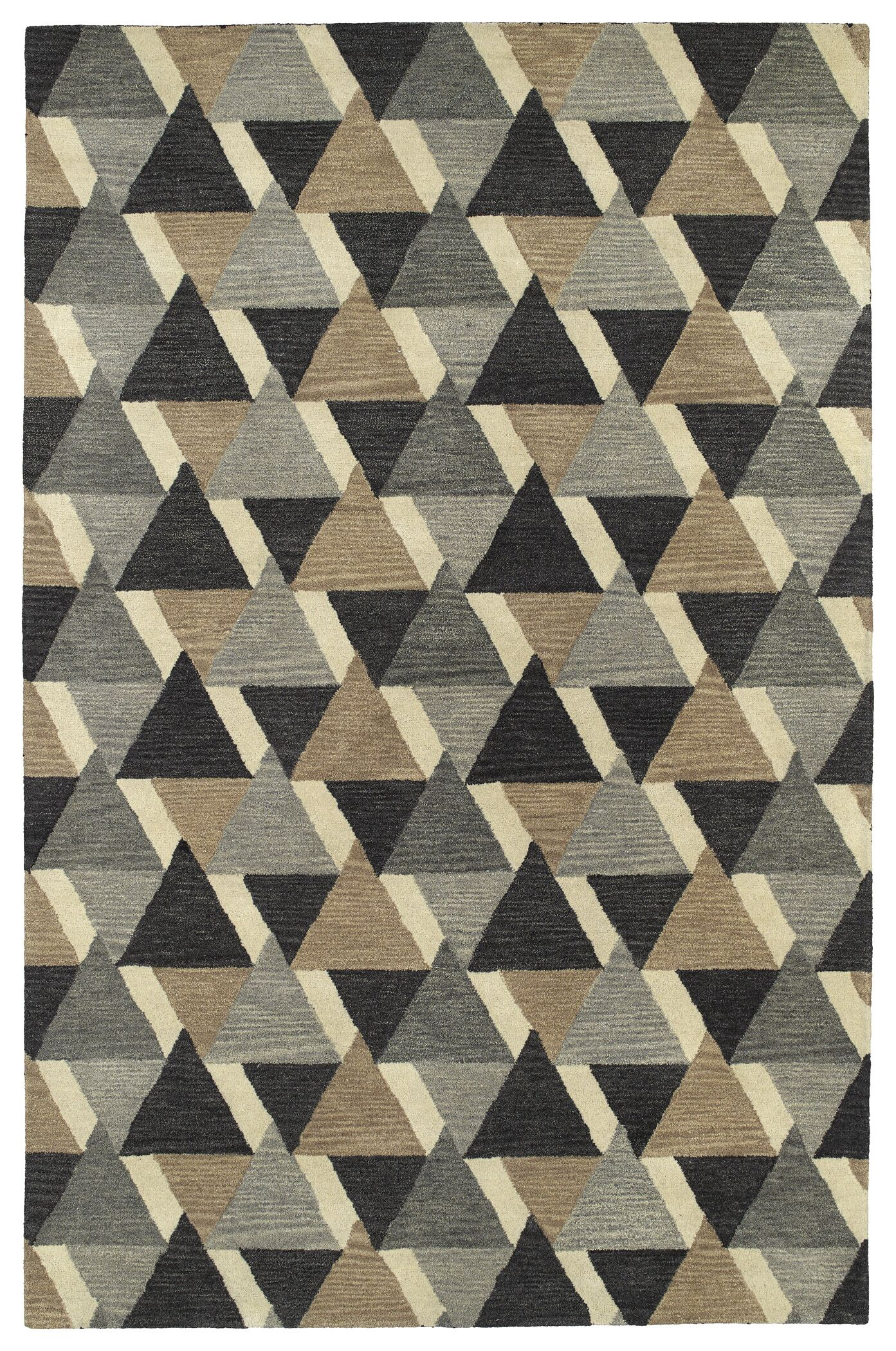 Dresden Hand Tufted Gray/Brown Area Rug Rug Size: Rectangle 5' x 7'9
