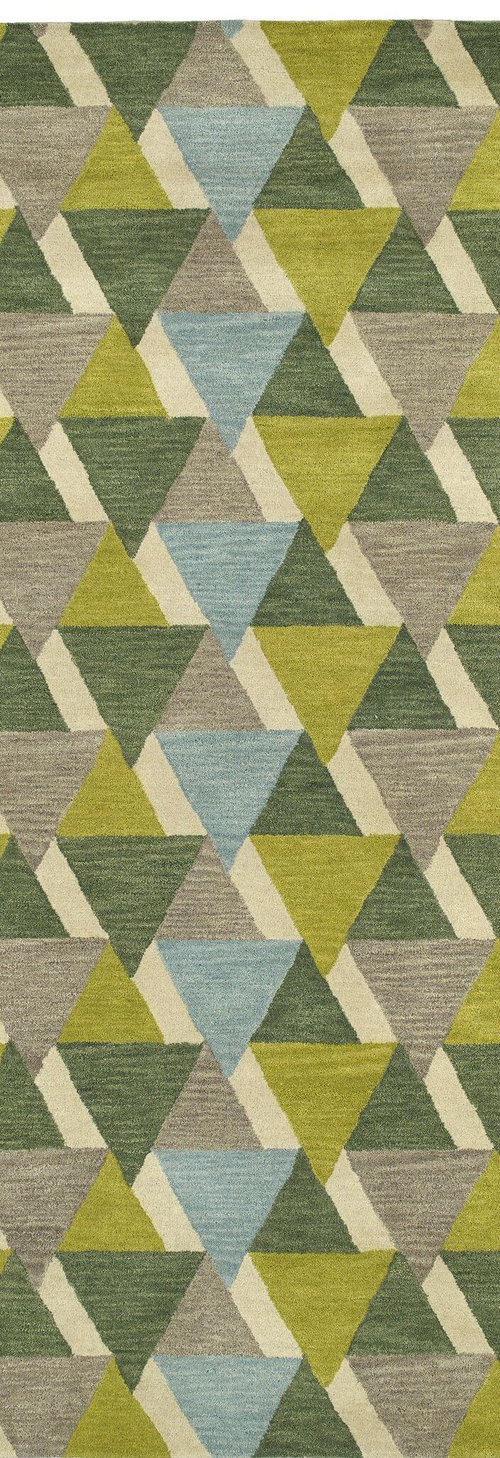 Dresden Hand Tufted Green/Brown Area Rug Rug Size: Runner 2'6
