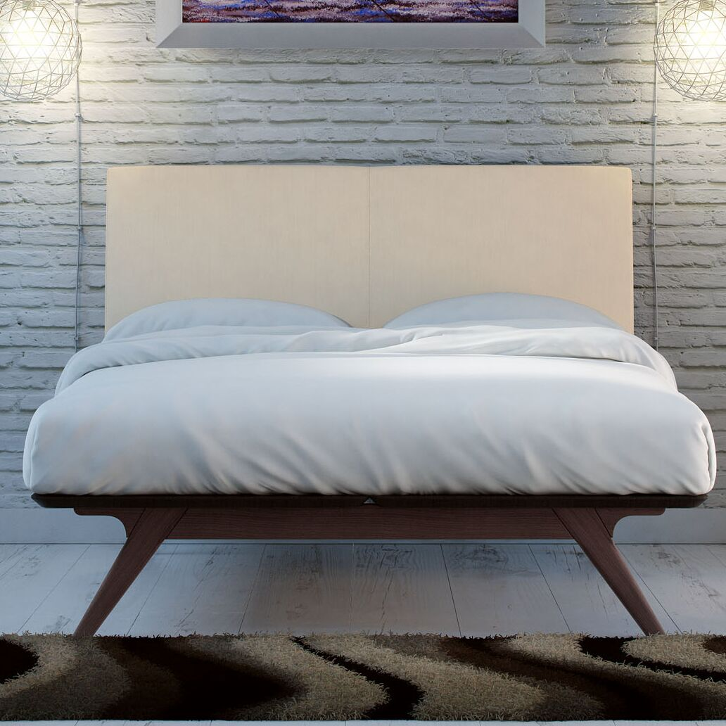 Hannigan Upholstered Platform Bed Color: Cappuccino Gray, Size: King