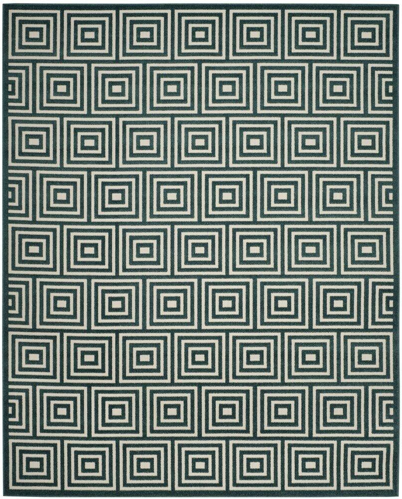 Candor Blue Geometric Outdoor Area Rug Rug Size: Square 6'7