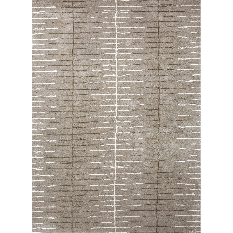 Mitchel Geometric Hand-Tufted Gray/Ivory Area Rug Rug Size: Rectangle 2' x 3'