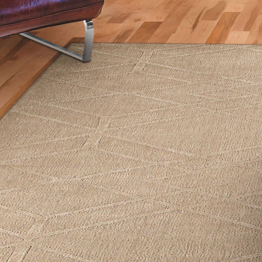 Clarkstown Hand-Loomed Beige Area Rug Rug Size: Rectangle 8' x 10'