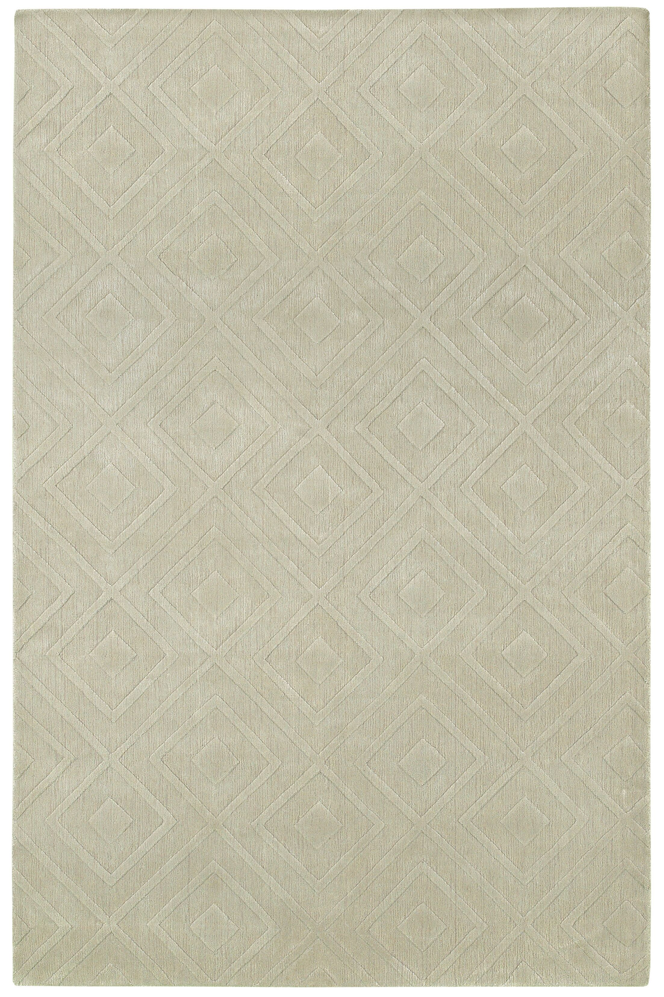 Clarkstown Hand-Loomed Sand Area Rug Rug Size: Rectangle 3'6