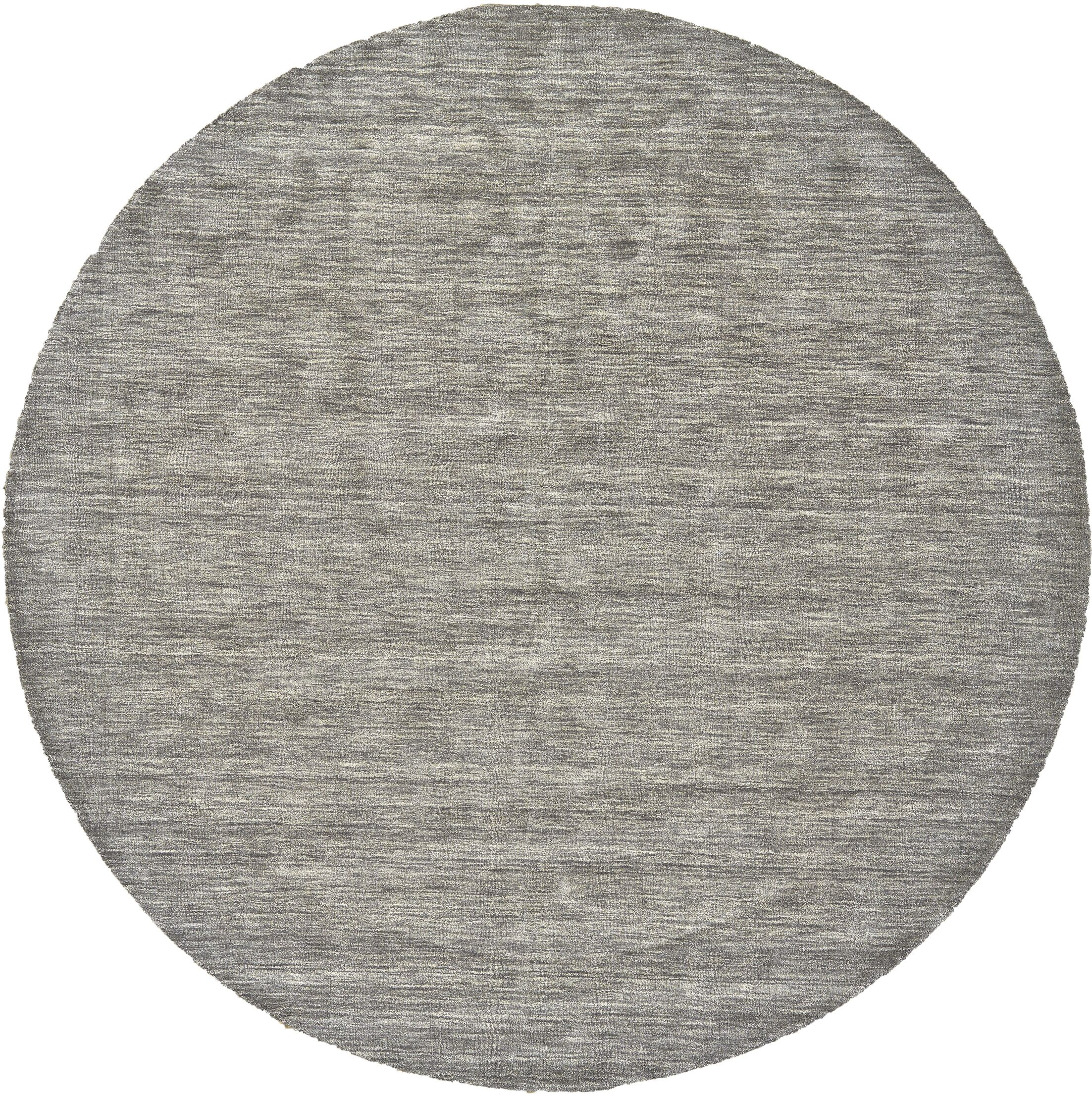 Chazy Hand-Tufted Gray Area Rug Rug Size: Round 10'