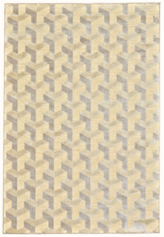 DeRuyter Cream/Silver Area Rug Rug Size: Rectangle 7'6