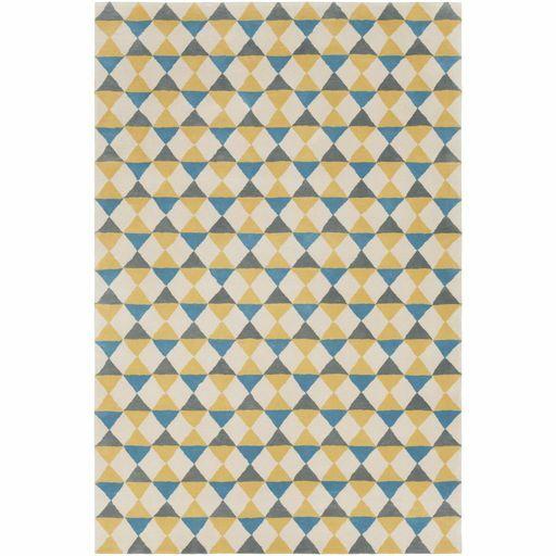 Lina Hand-Tufted Geometric Area Rug Rug Size: 5' x 7'6