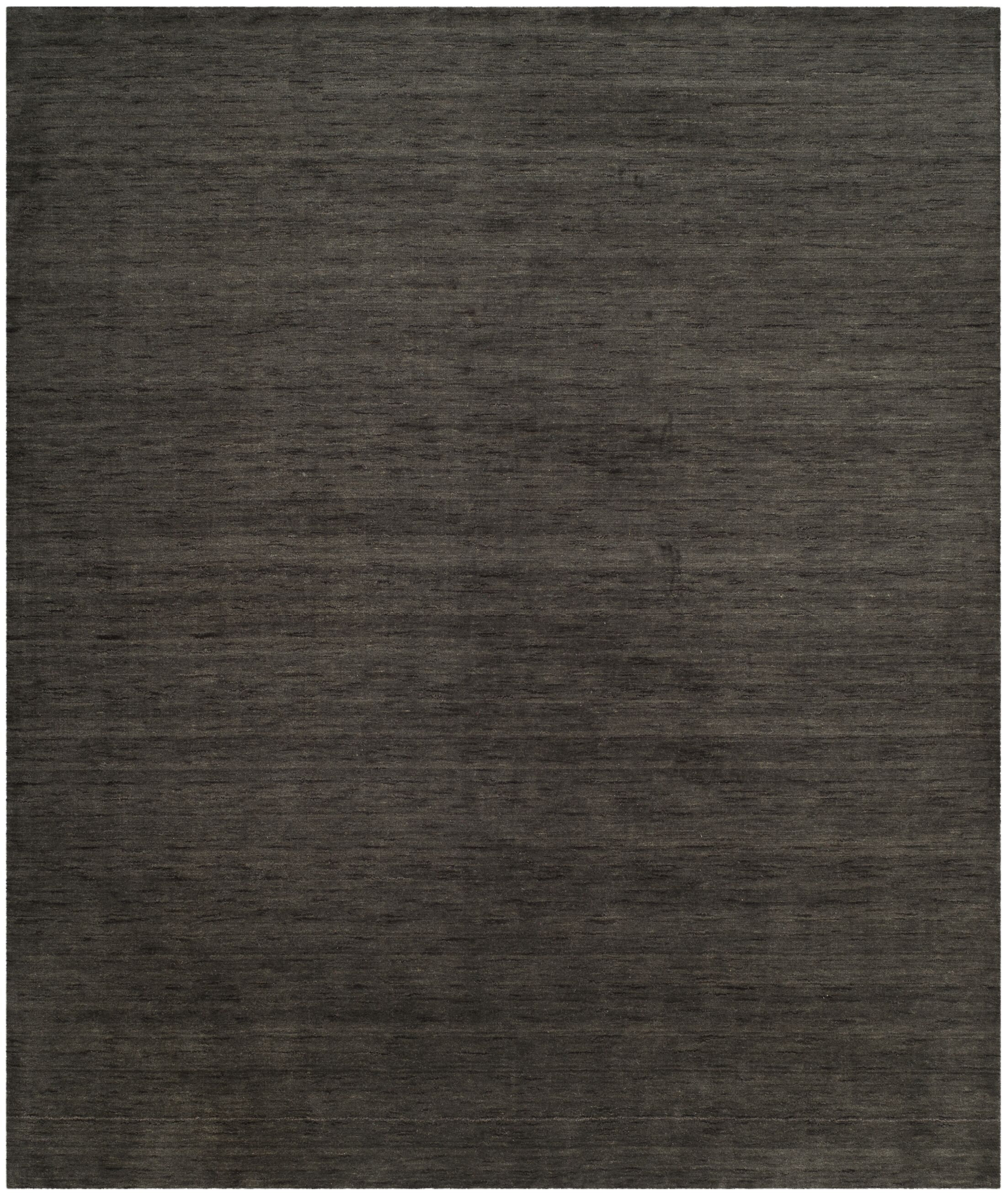 Aghancrossy Hand-Loomed Charcoal Area Rug Rug Size: Rectangle 6' x 9'