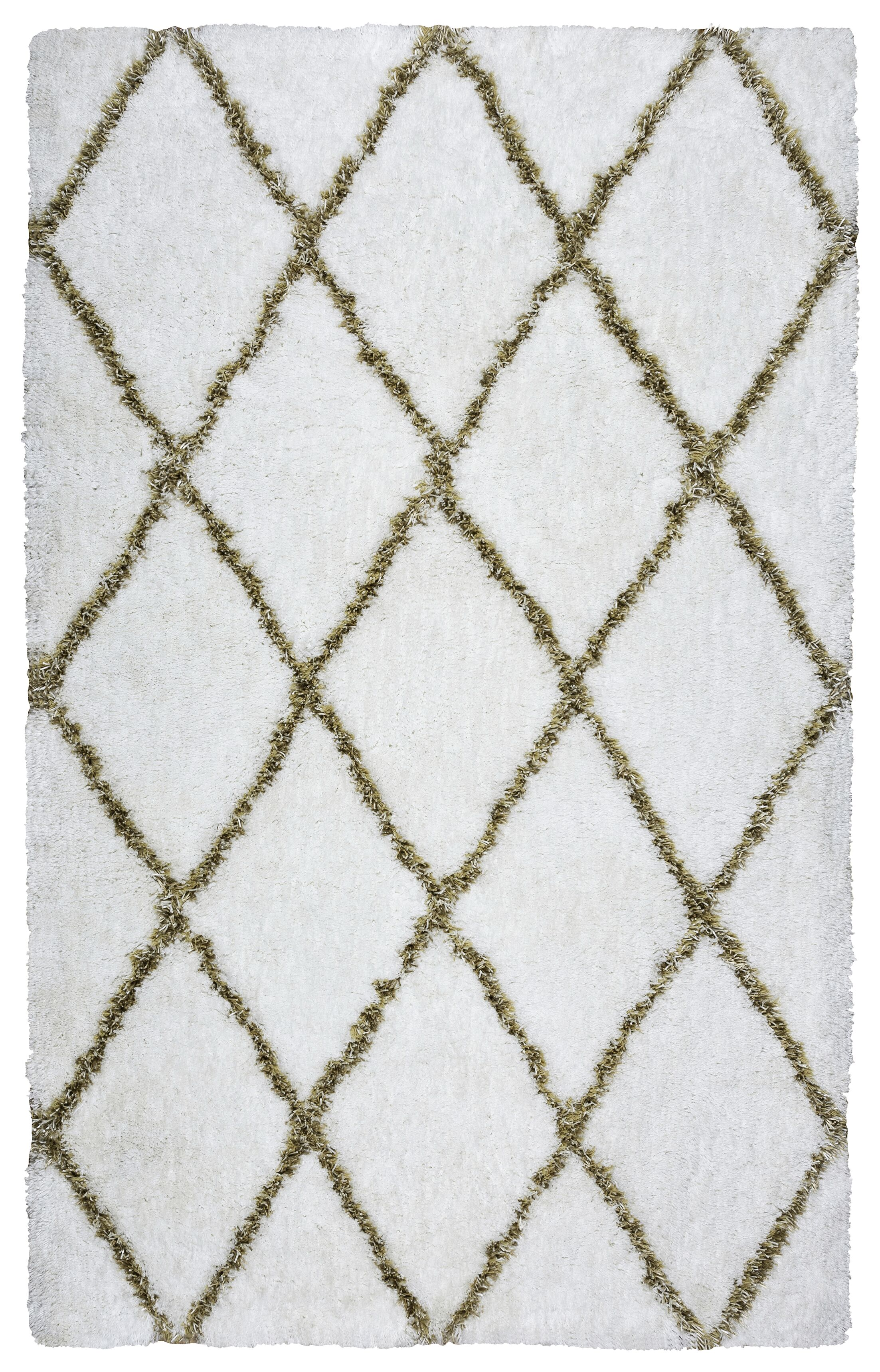 Beesley Hand-Tufted White/Beige Area Rug Size: Rectangle 9' x 12'