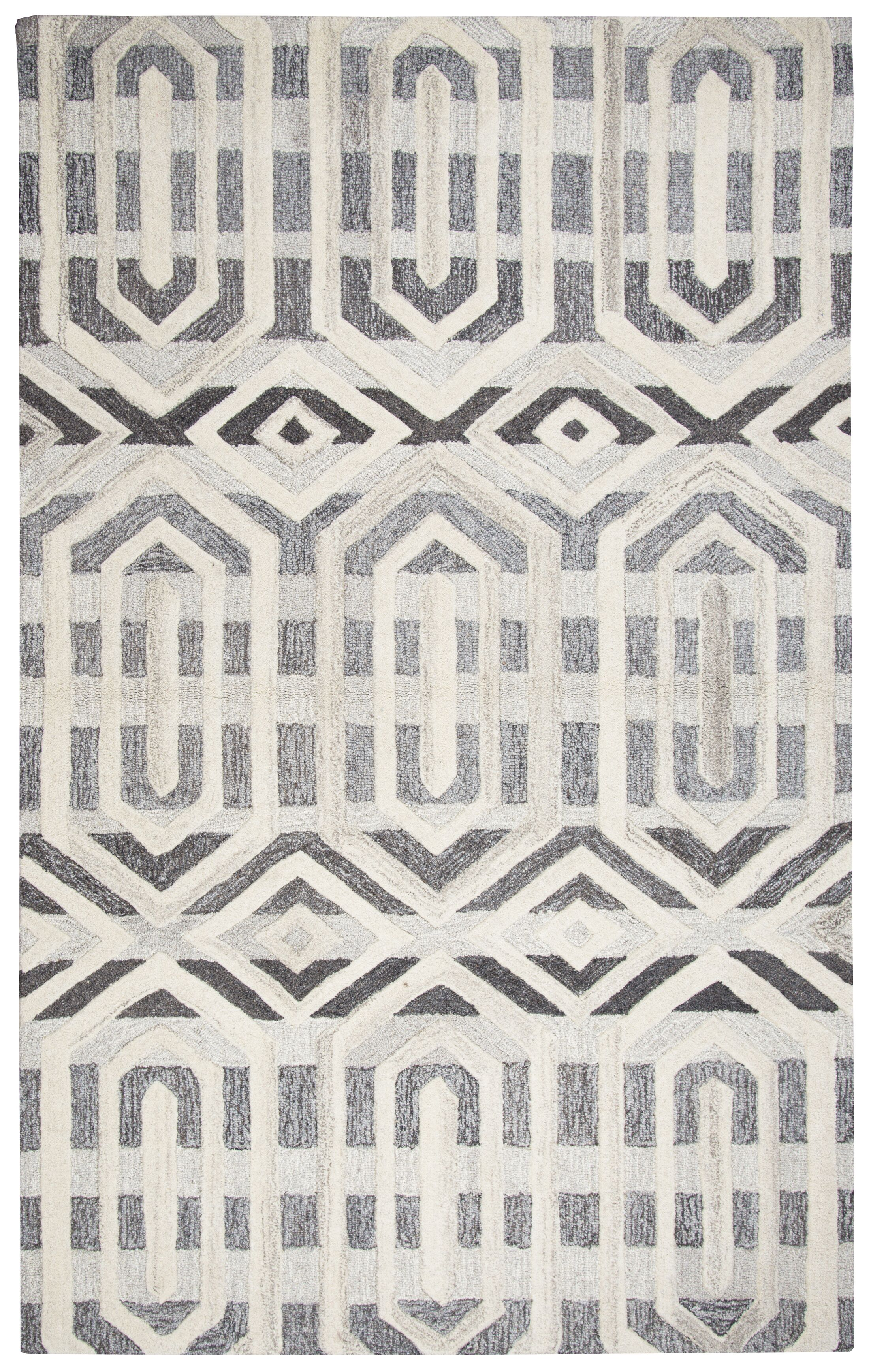 Yucca Place Hand-Tufted Gray Area Rug Rug Size: Rectangle 9' x 12'