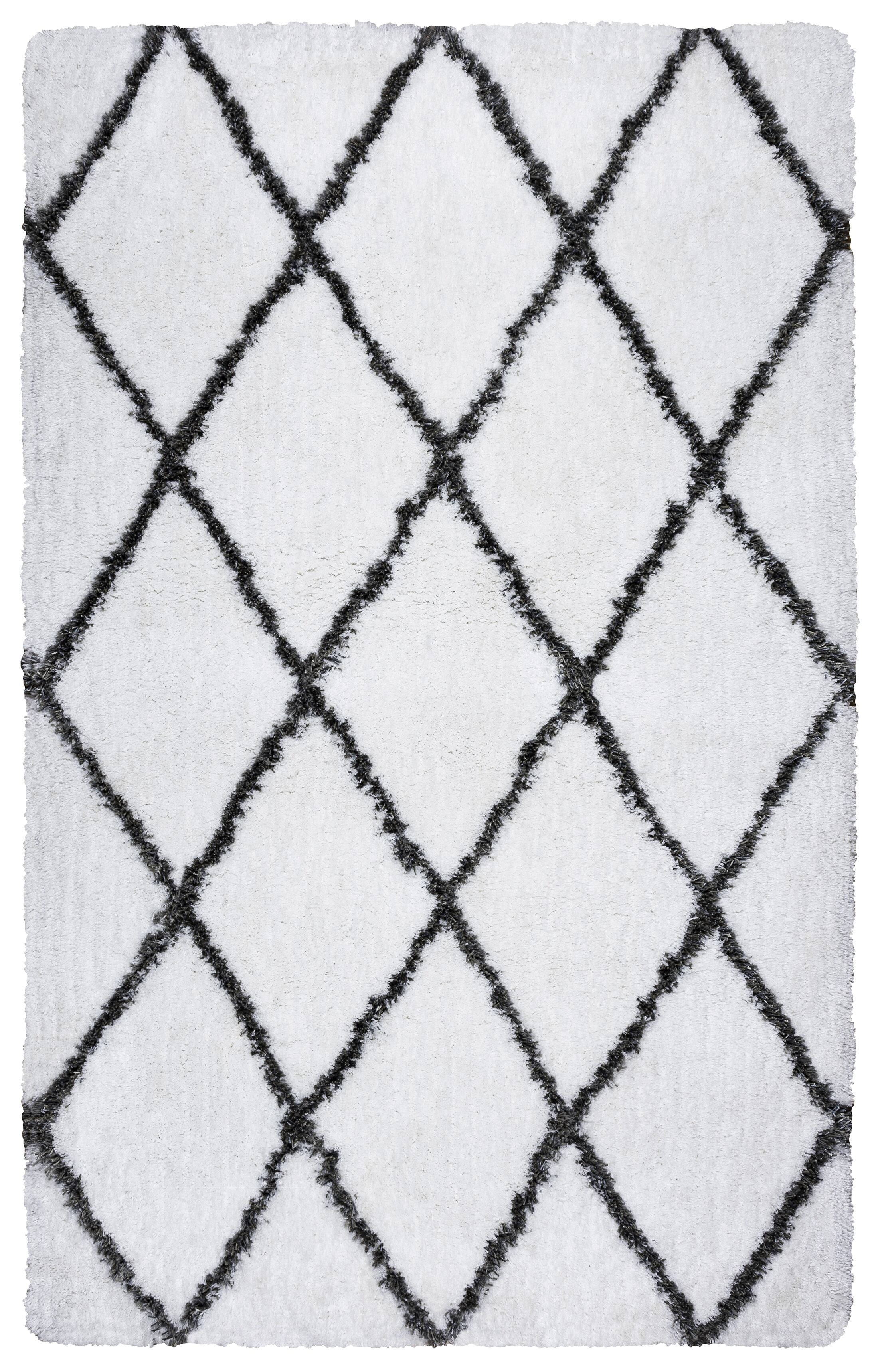 Beesley Hand-Tufted Bright White/Gray Indoor/Outdoor Area Rug Size: Rectangle 9' x 12'