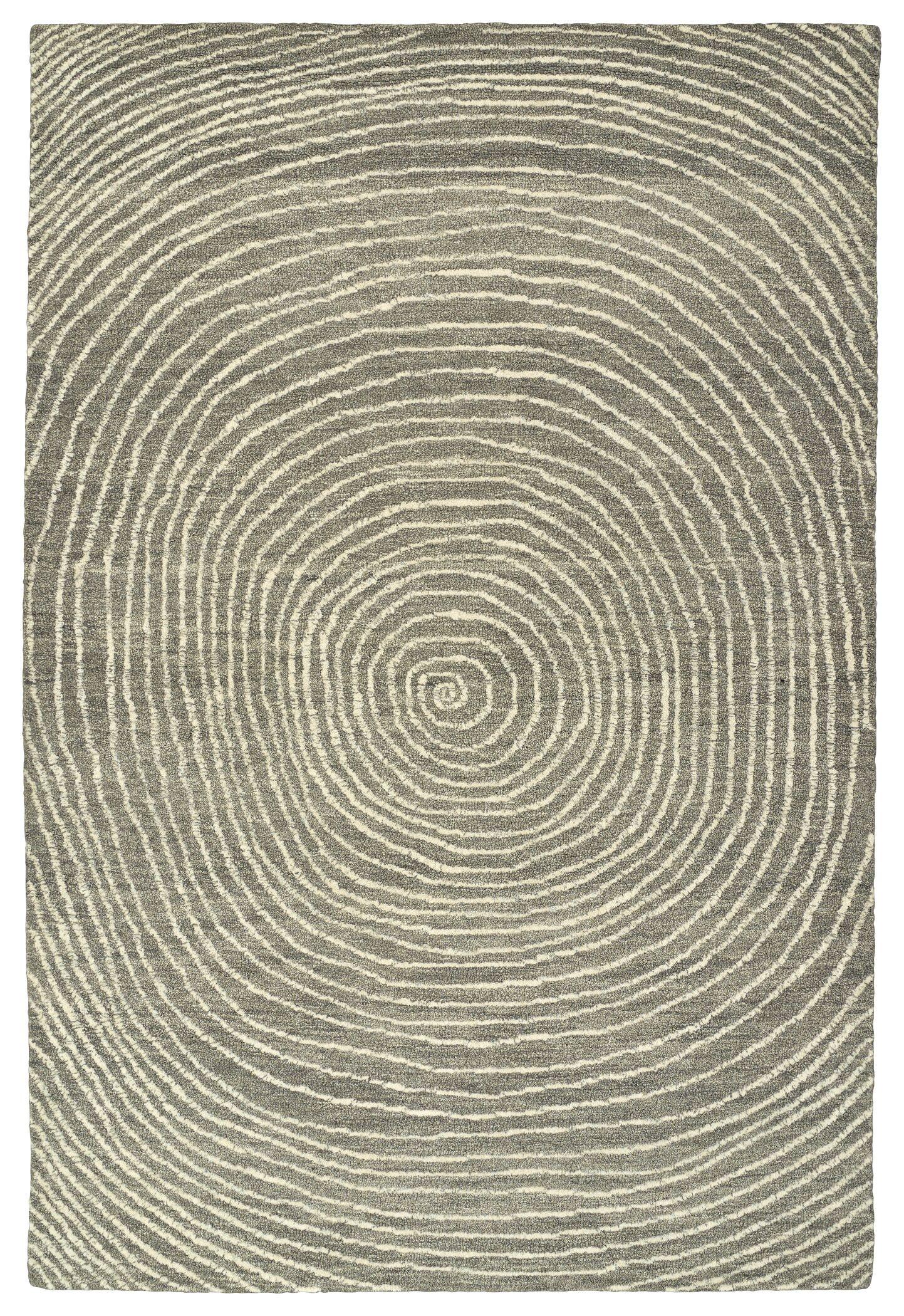 Caneadea Hand-Tufted Gray Area Rug Rug Size: Rectangle 3'6