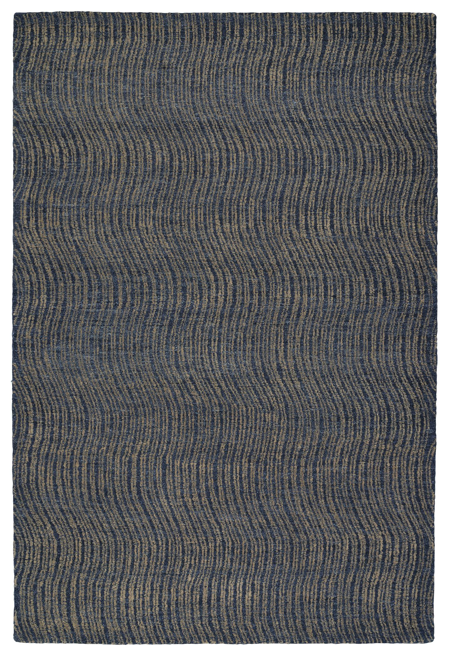 Caneadea Hand-Tufted Blue Area Rug Rug Size: Rectangle 9' x 12'
