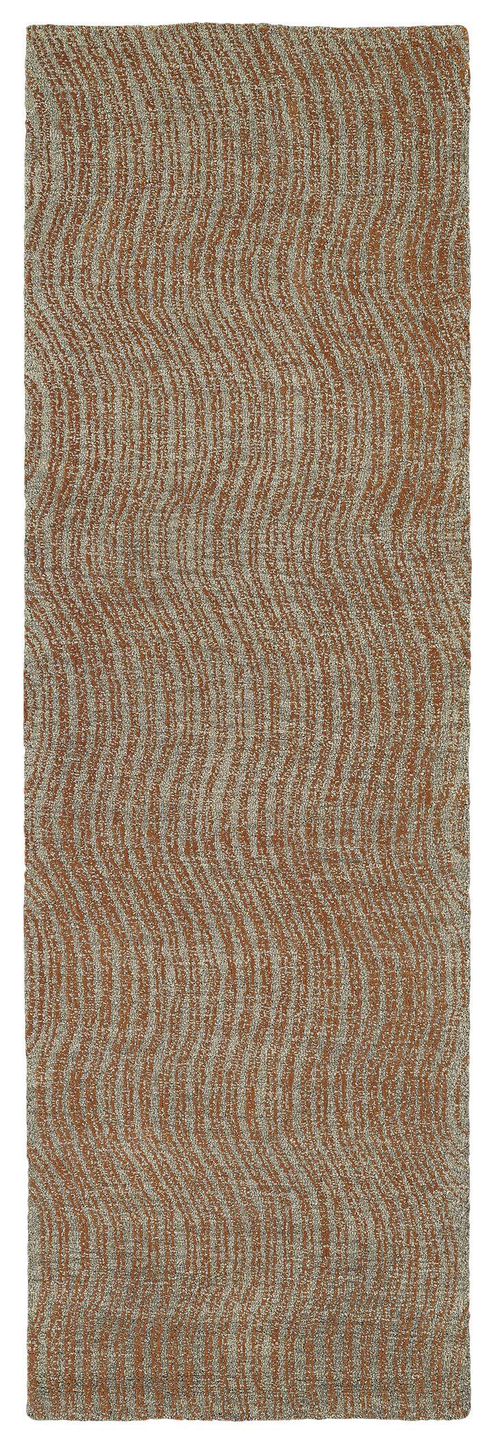Caneadea Hand-Tufted Paprika Area Rug Rug Size: Runner 2'6