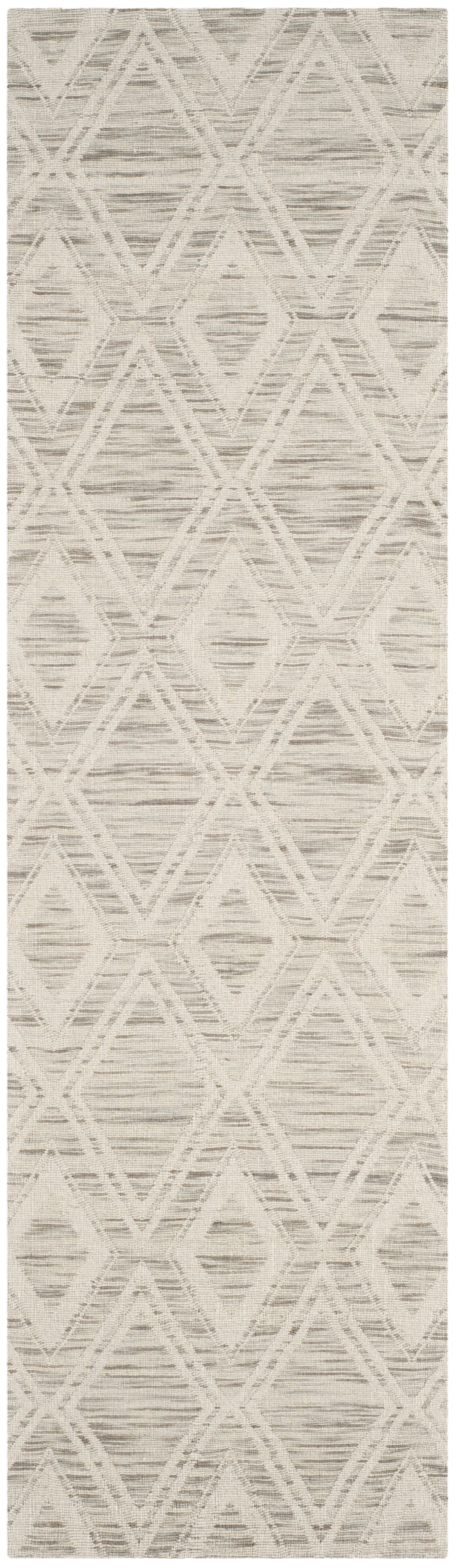 Alexandria Hand-Woven Light Brown/Ivory Area Rug Rug Size: Runner 2'3