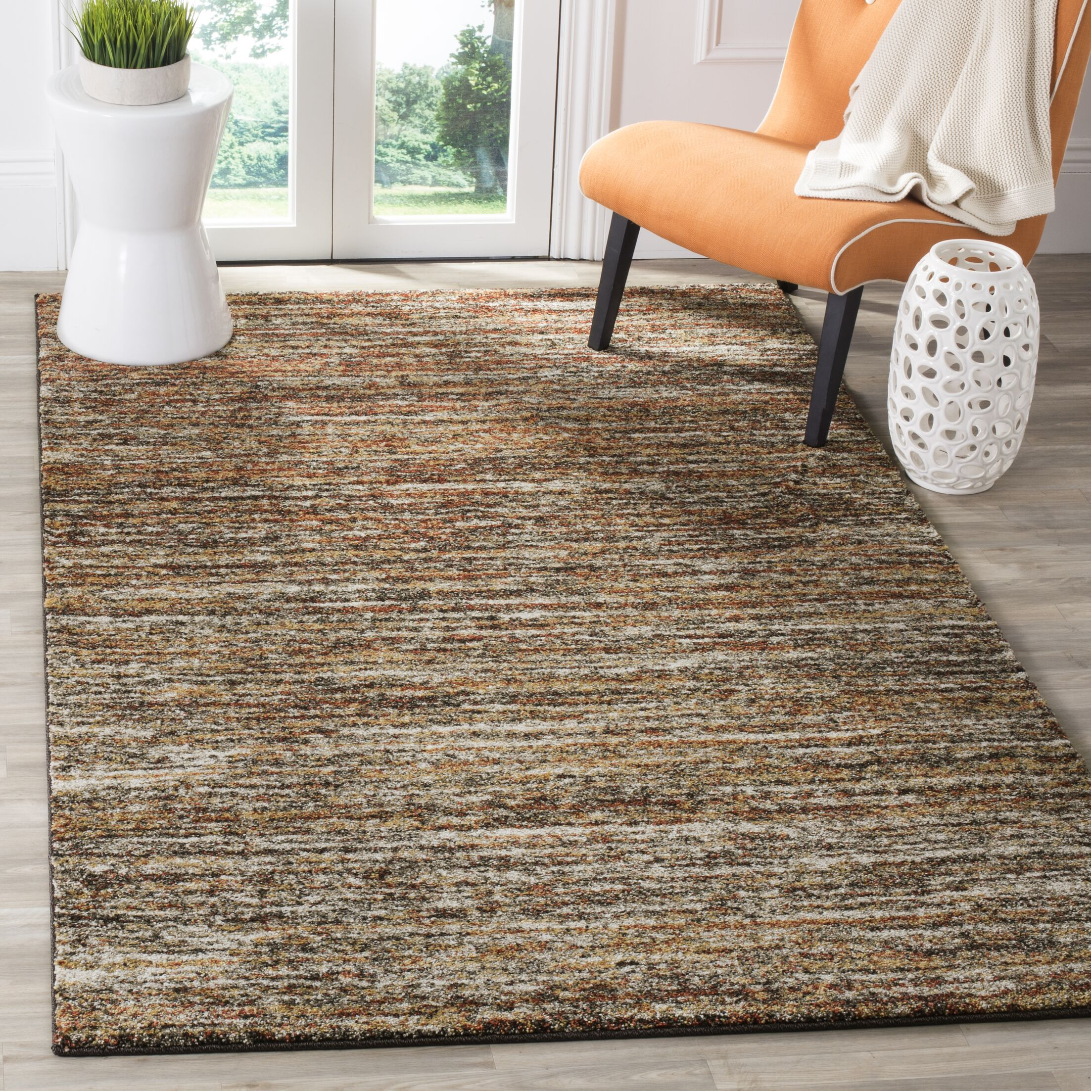 Gaines Ivory/Gold Area Rug Rug Size: Rectangle 6' x 9'