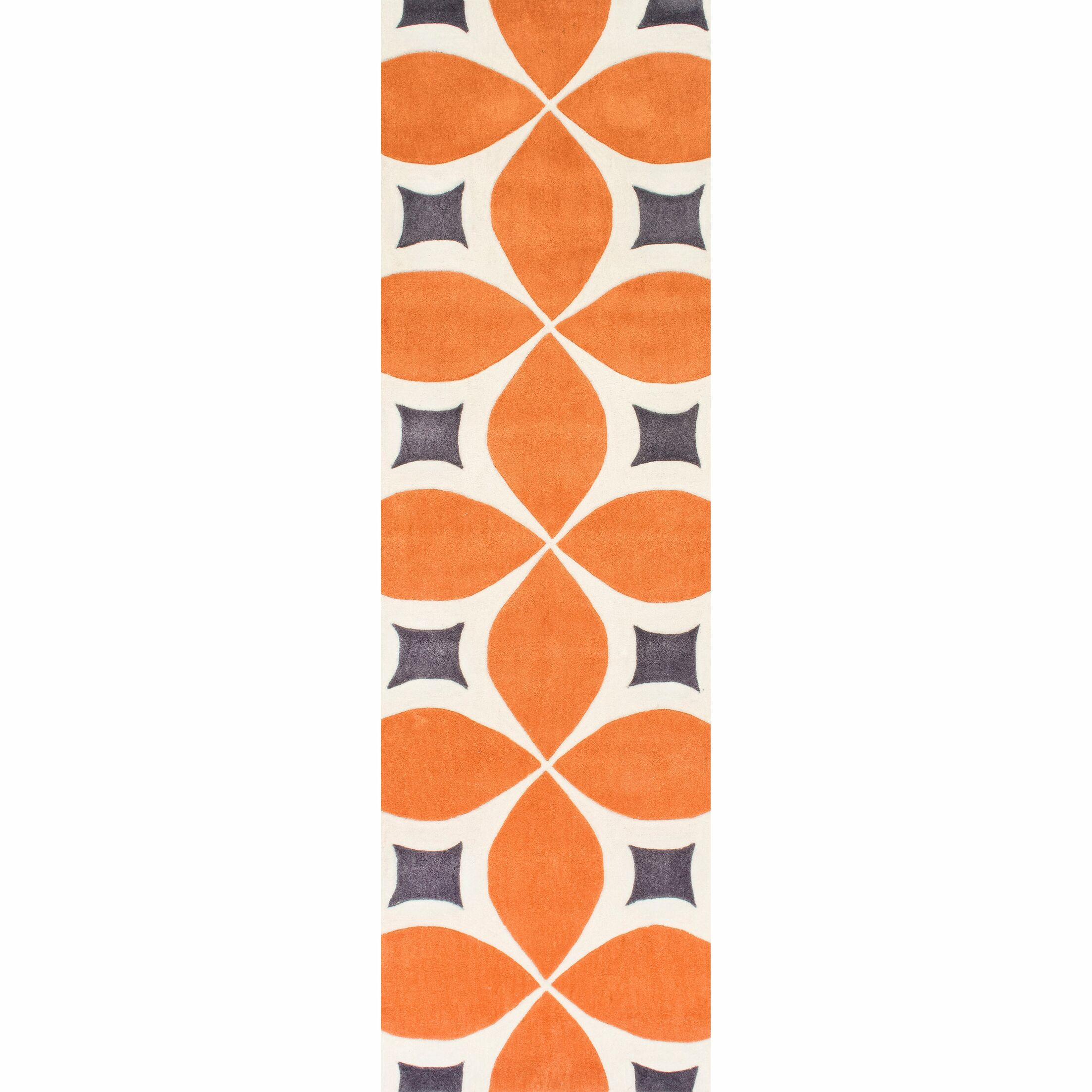Sorrento Hand Woven Orange Area Rug Rug Size: Runner 2'6