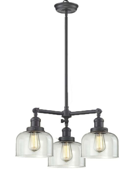 Wymore 3-Light Shaded Chandelier Shade Color: Smoked, Finish: Polished Nickel