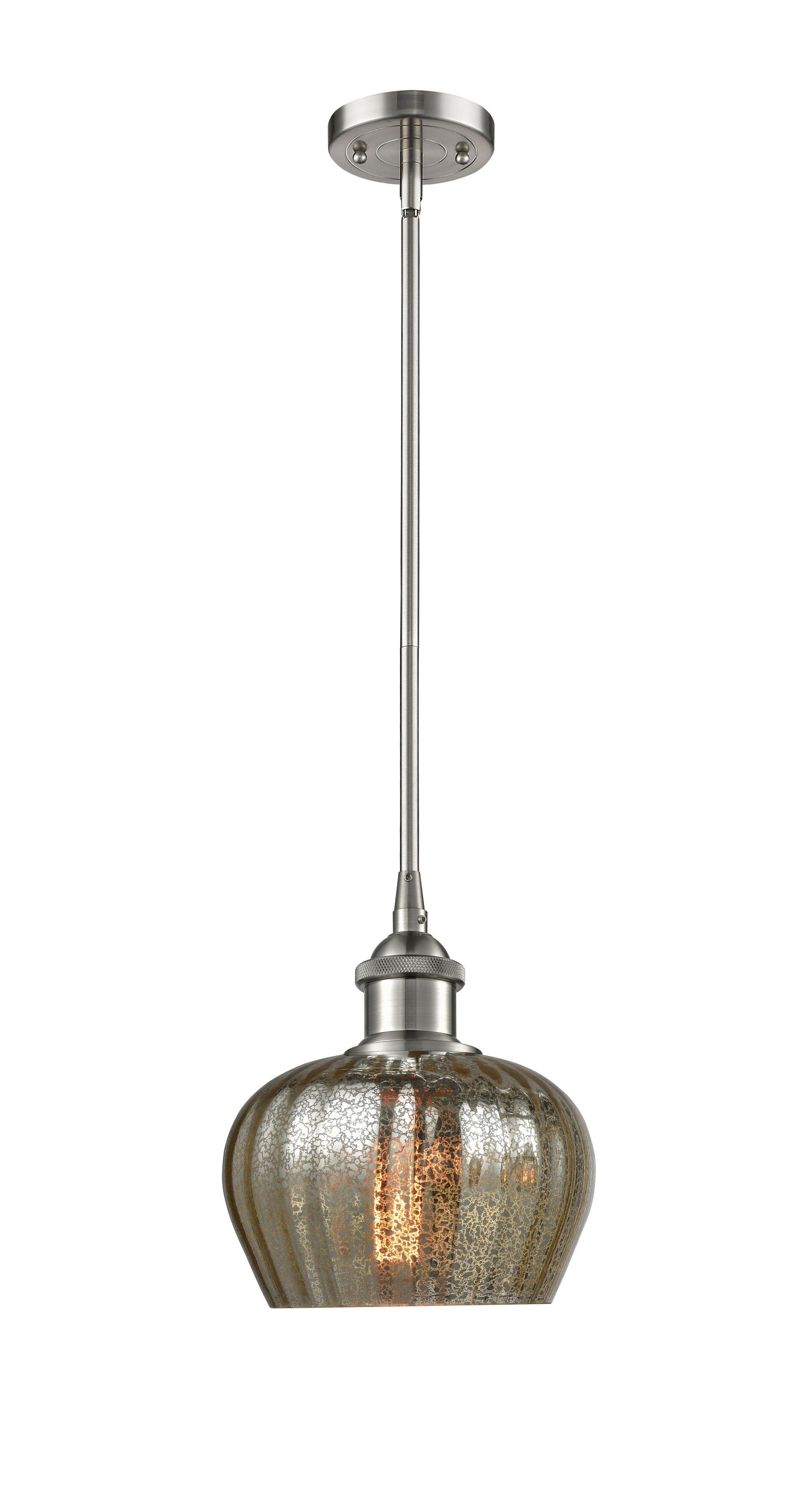 Dooling 1-Light Globe Pendant Finish: Brushed Satin Nickel, Shade Color: Clear