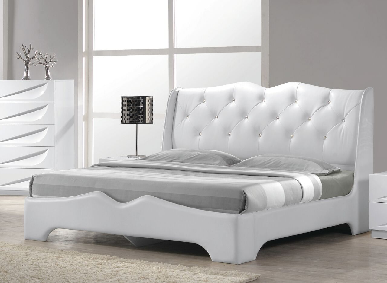 Madrid Upholstered Platform Bed Size: California King