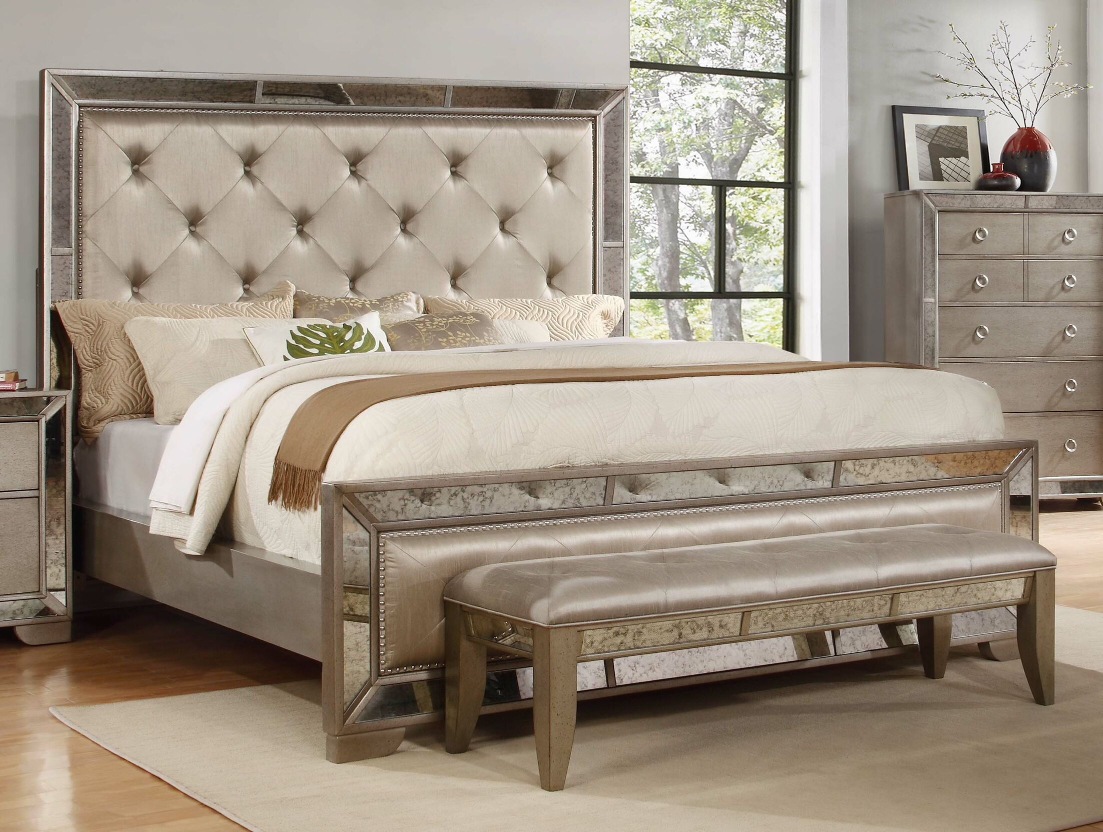 Dowson Upholstered Platform Bed Size: Eastern King