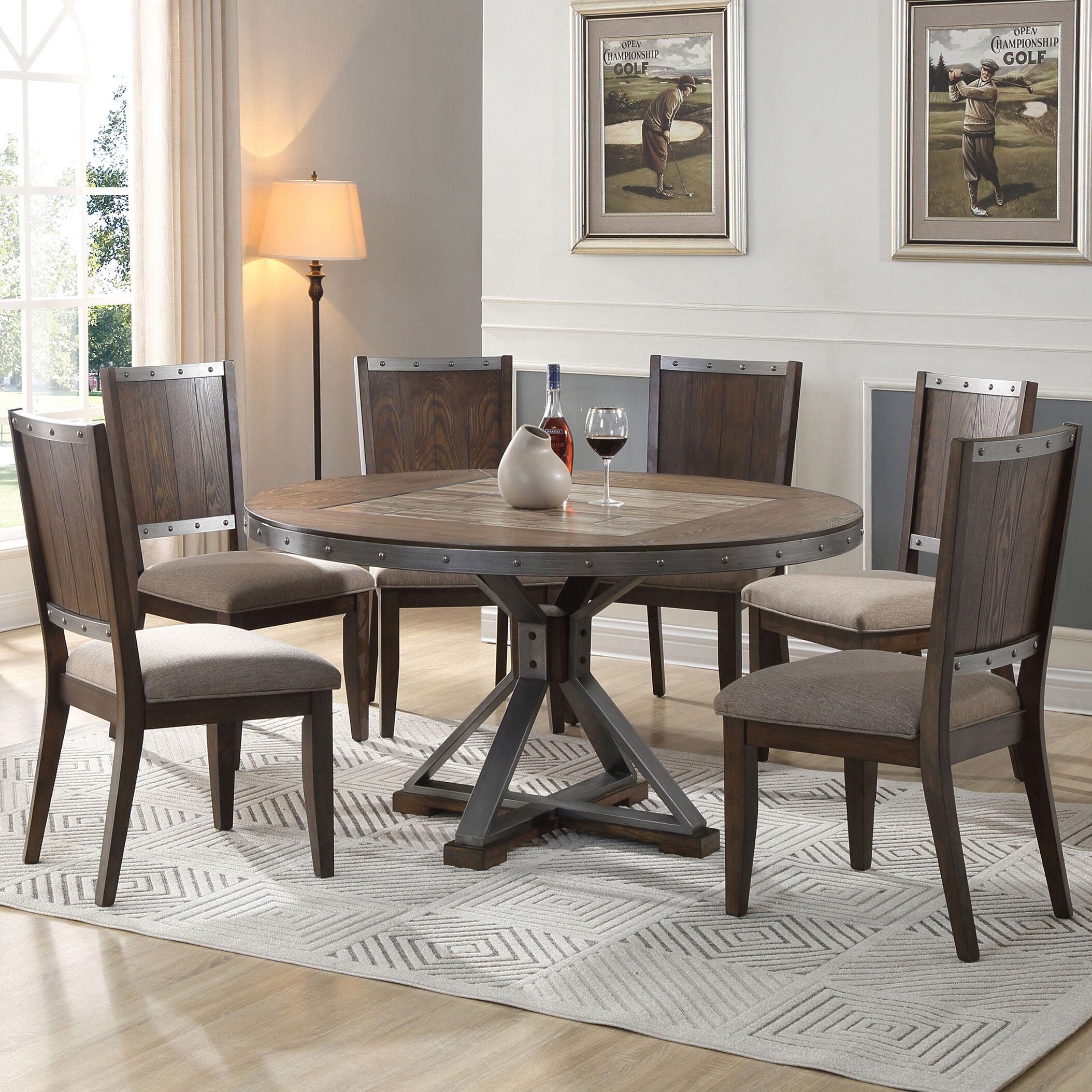 Dining Table Sets Honey 5 Piece Dining Set