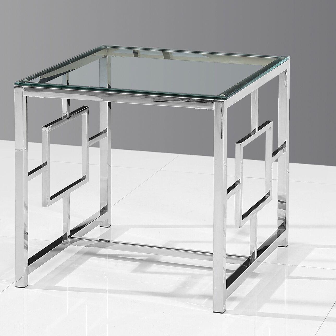 Gantt End Table Color: Silver