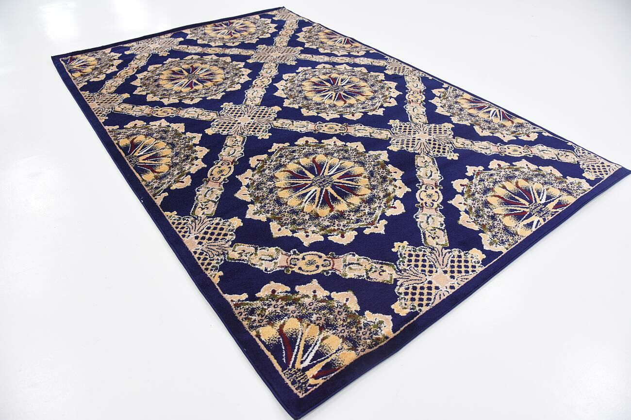 Bethesda Navy Blue Area Rug Rug Size: Rectangle 5' x 8'