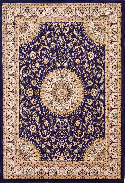 Charlie Navy Blue Area Rug Rug Size: Rectangle 10' x 13'