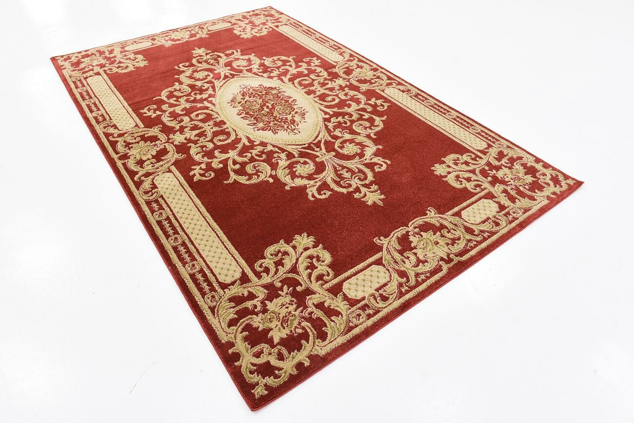 Gould Red Area Rug Rug Size: Rectangle 10' x 14'5