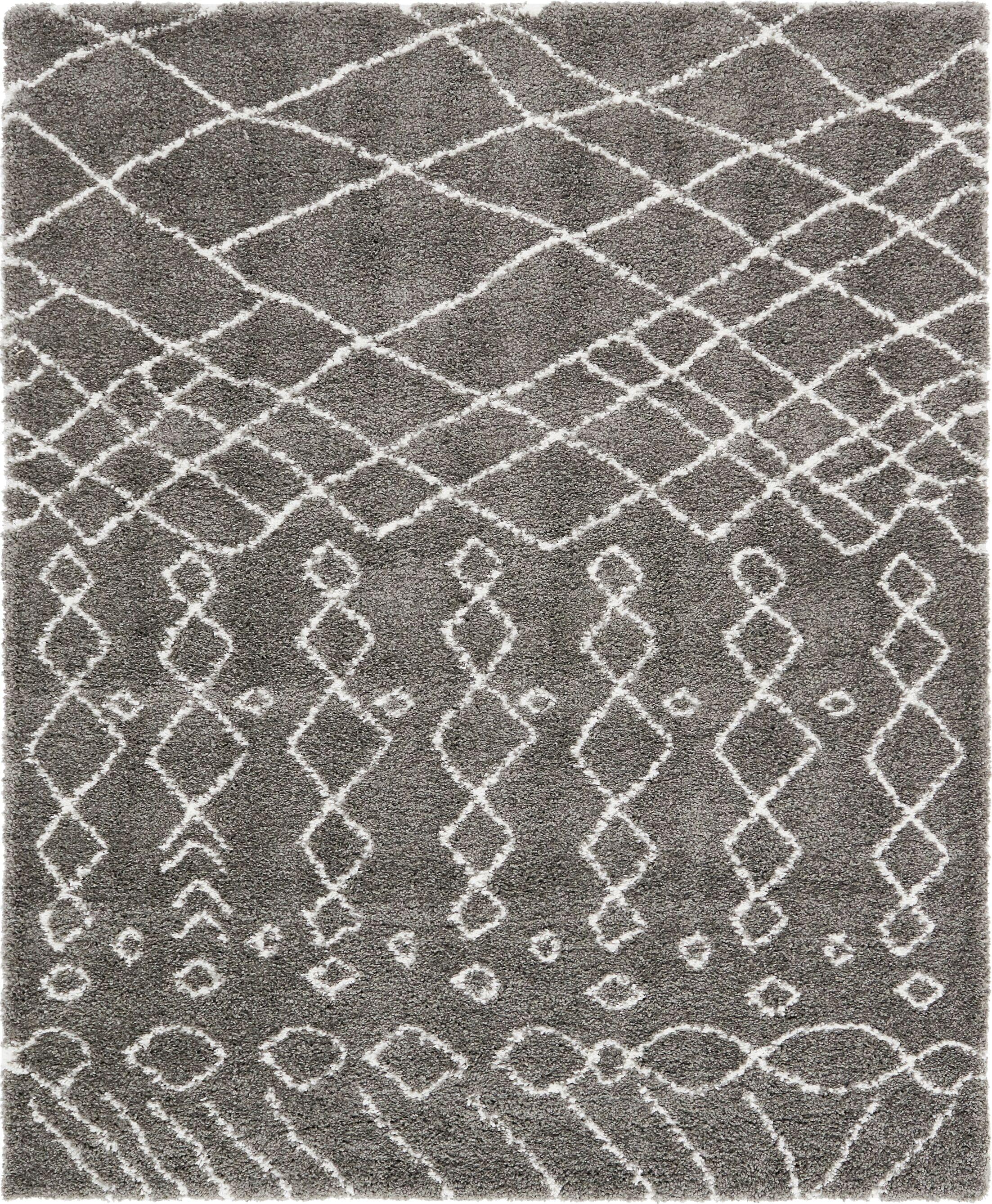 Bourne Machine woven  Gray Area Rug Rug Size: Rectangle 8'  x 10'