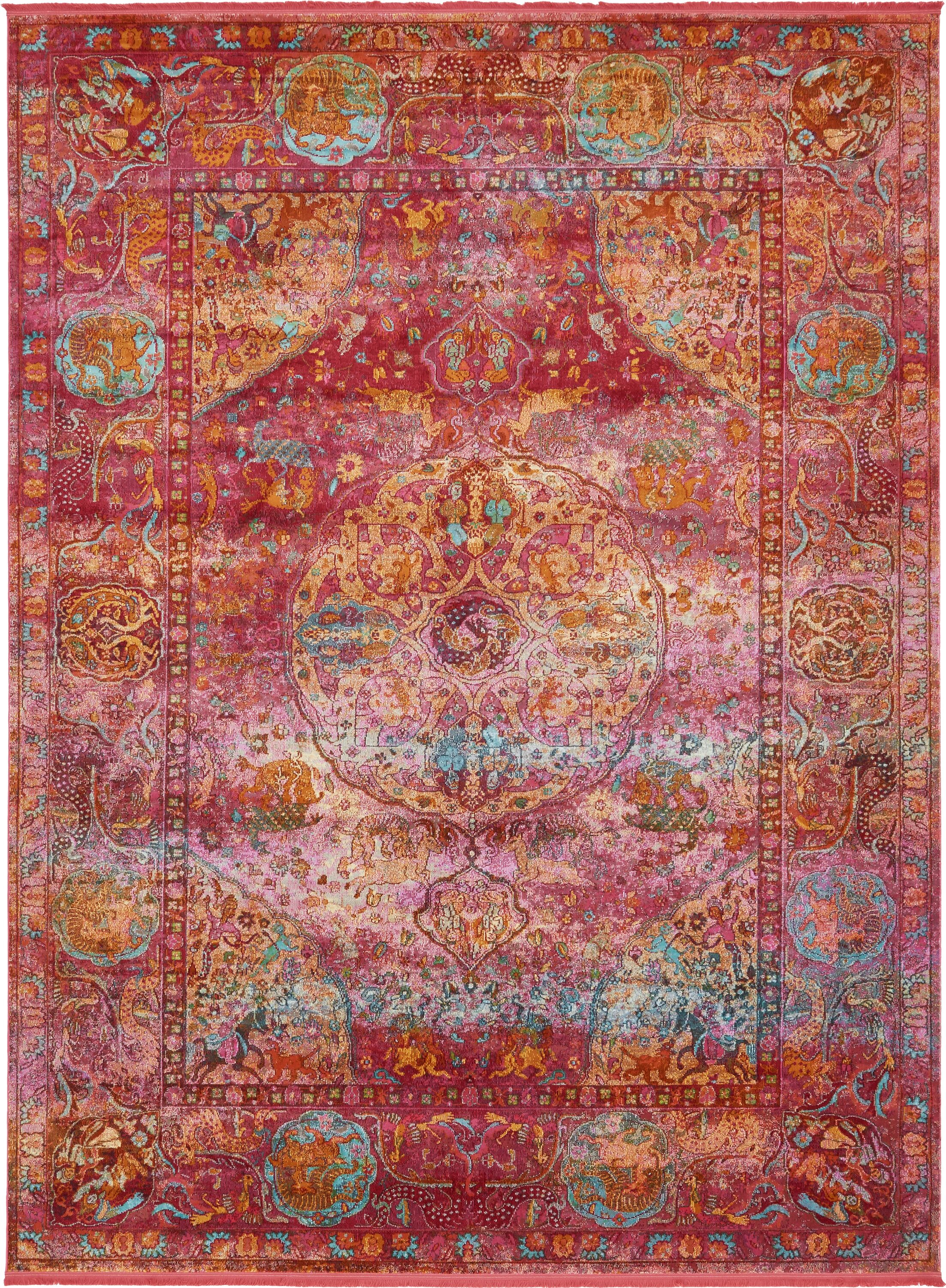 Lonerock Red Area Rug Rug Size: Rectangle 10' x 13'
