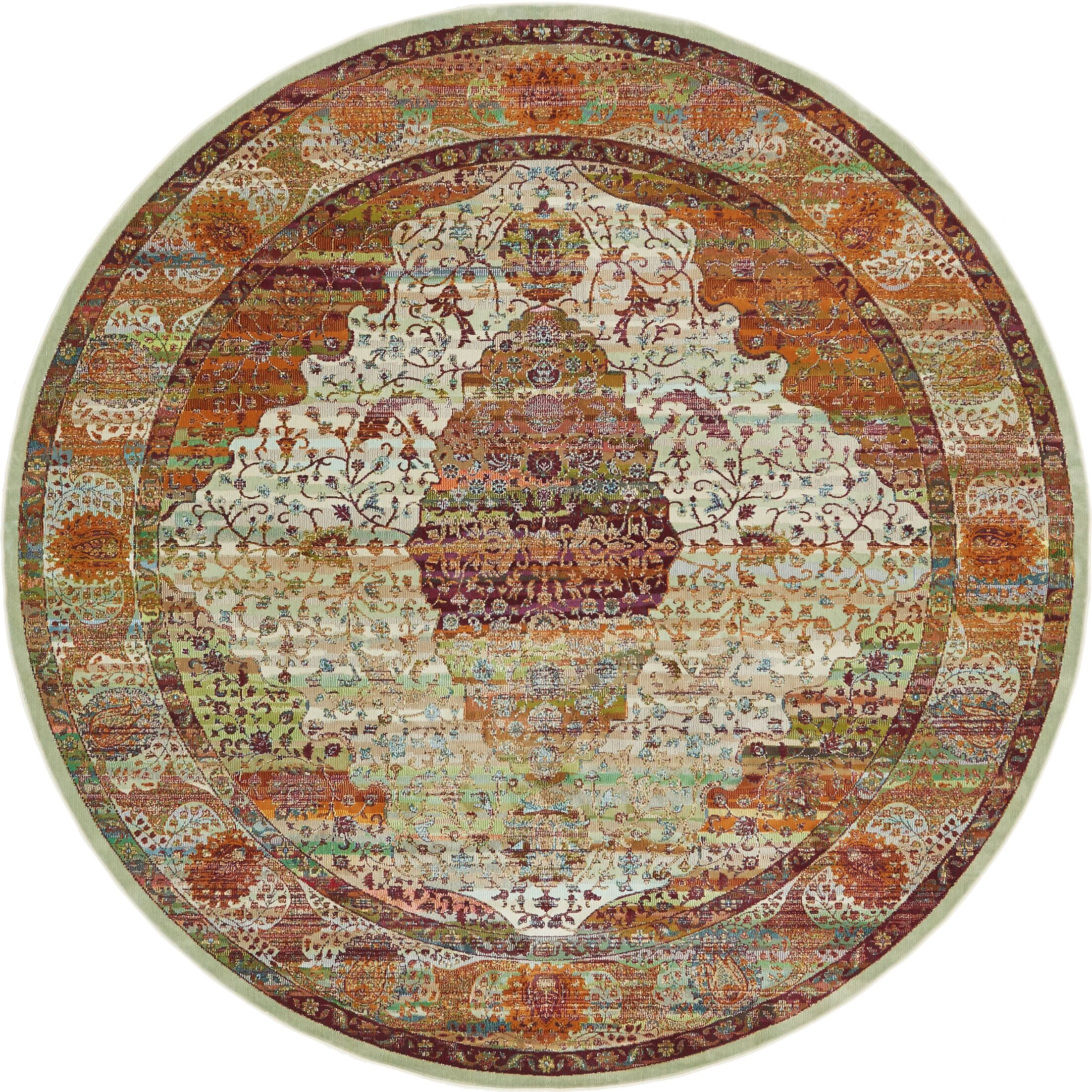 Lonerock Orange Area Rug Rug Size: Round 8'4