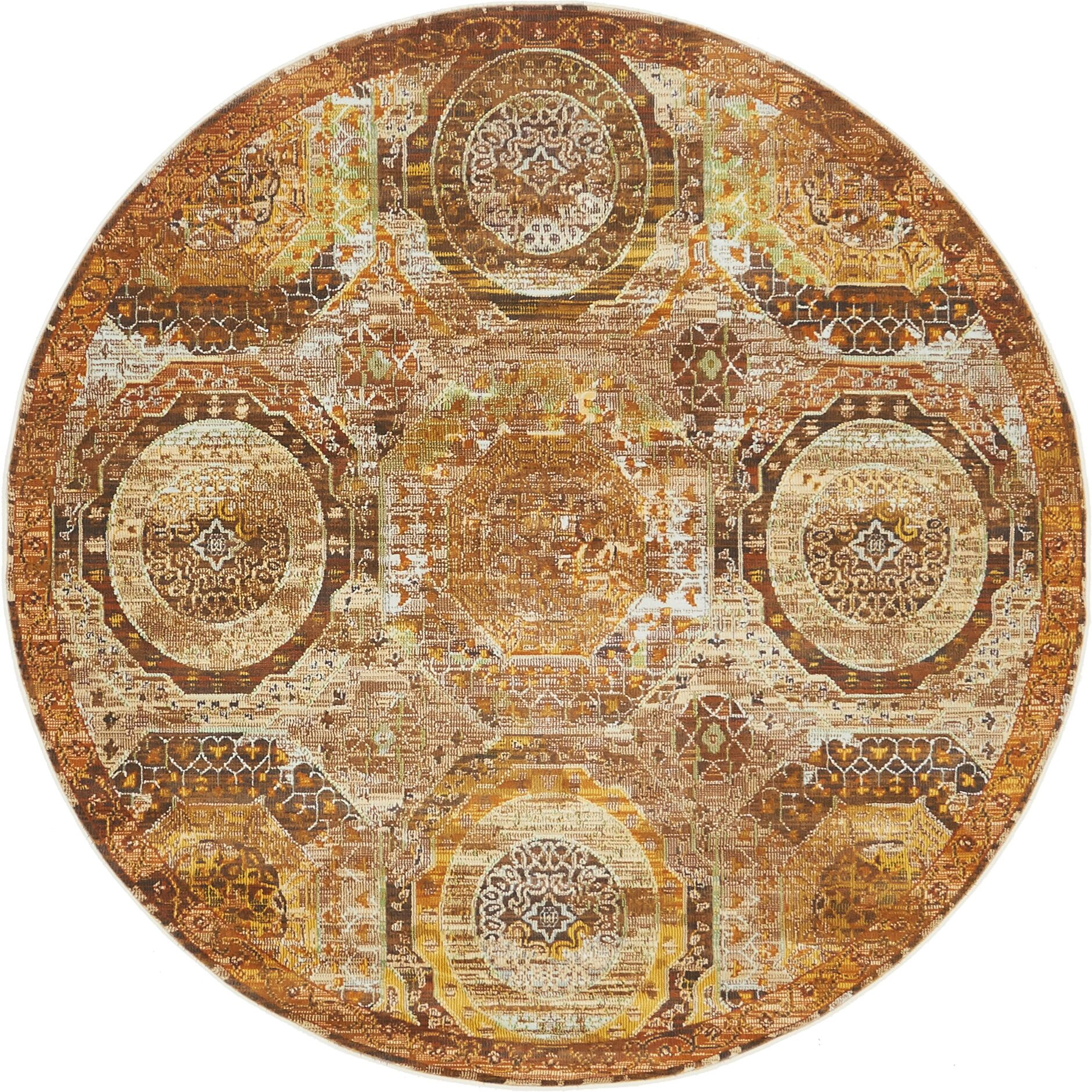 San Marcos Brown Area Rug Rug Size: Round 5'5
