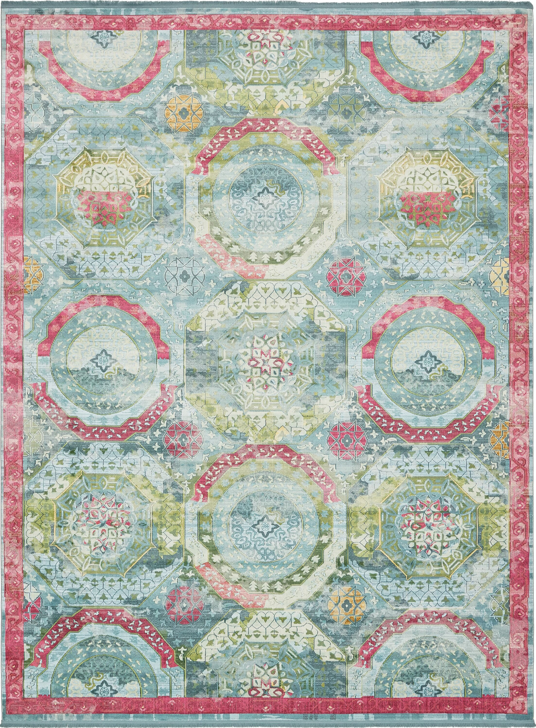 Lonerock Turquoise/Pink Area Rug Rug Size: Rectangle 10' x 13'