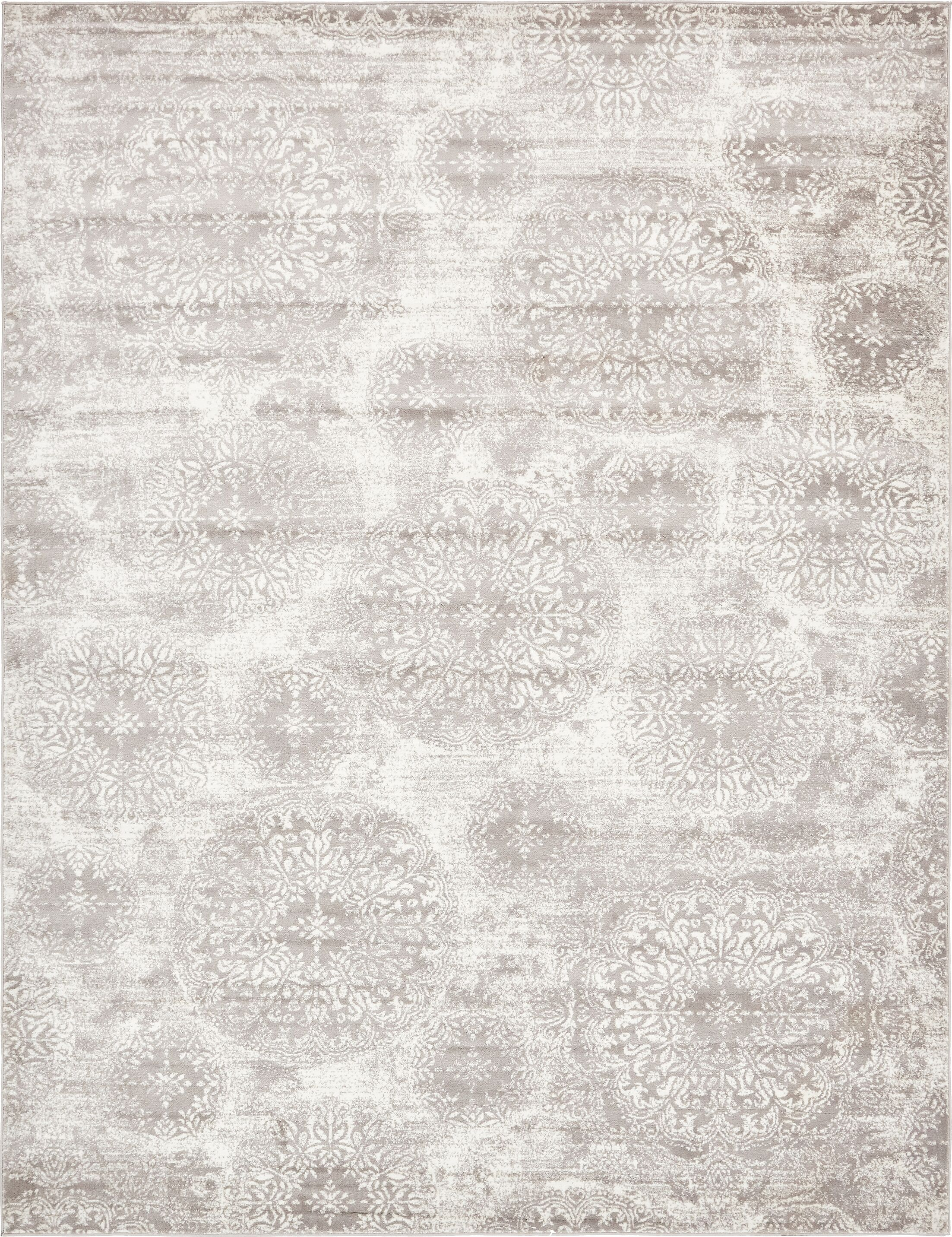Brandt Light Gray Area Rug Rug Size: Rectangle 9' x 12'
